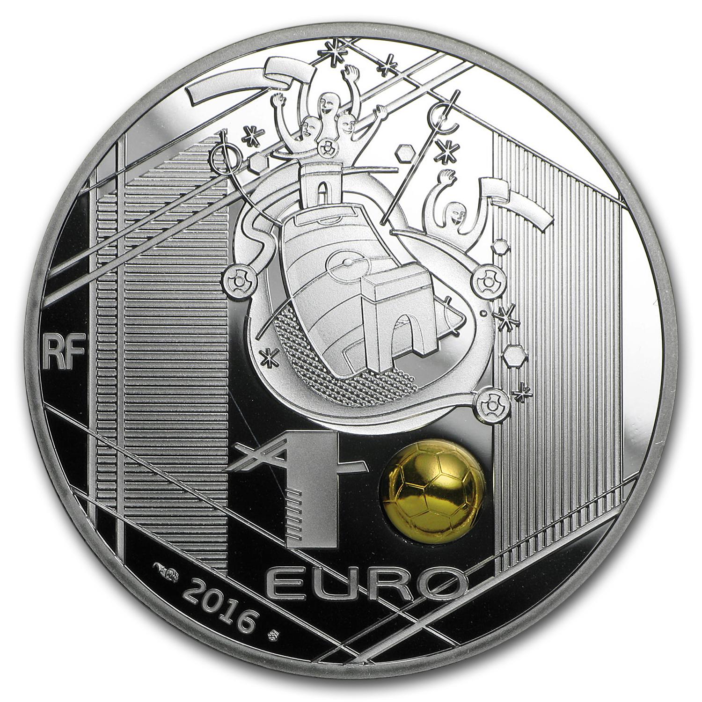 2016 Silver 10 Ueffa Cup Head Kick Proof Monnaie De
