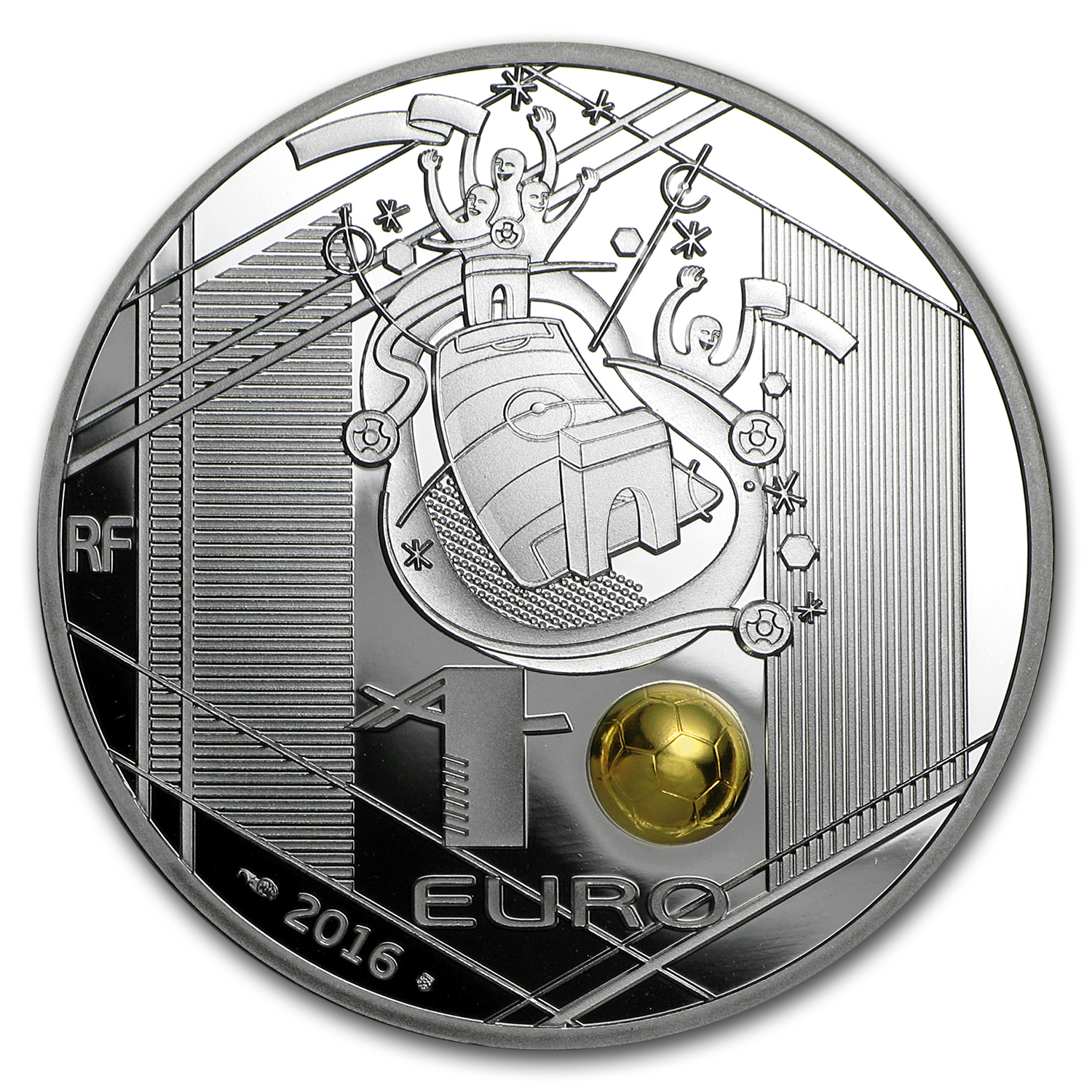 2016 France Silver €10 UEFA Cup Proof (Goalkeeper)