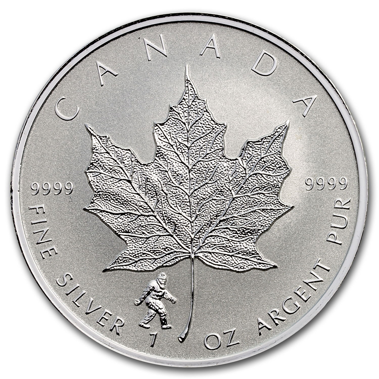 2016 Canada 1 oz Silver Maple Leaf Bigfoot Privy