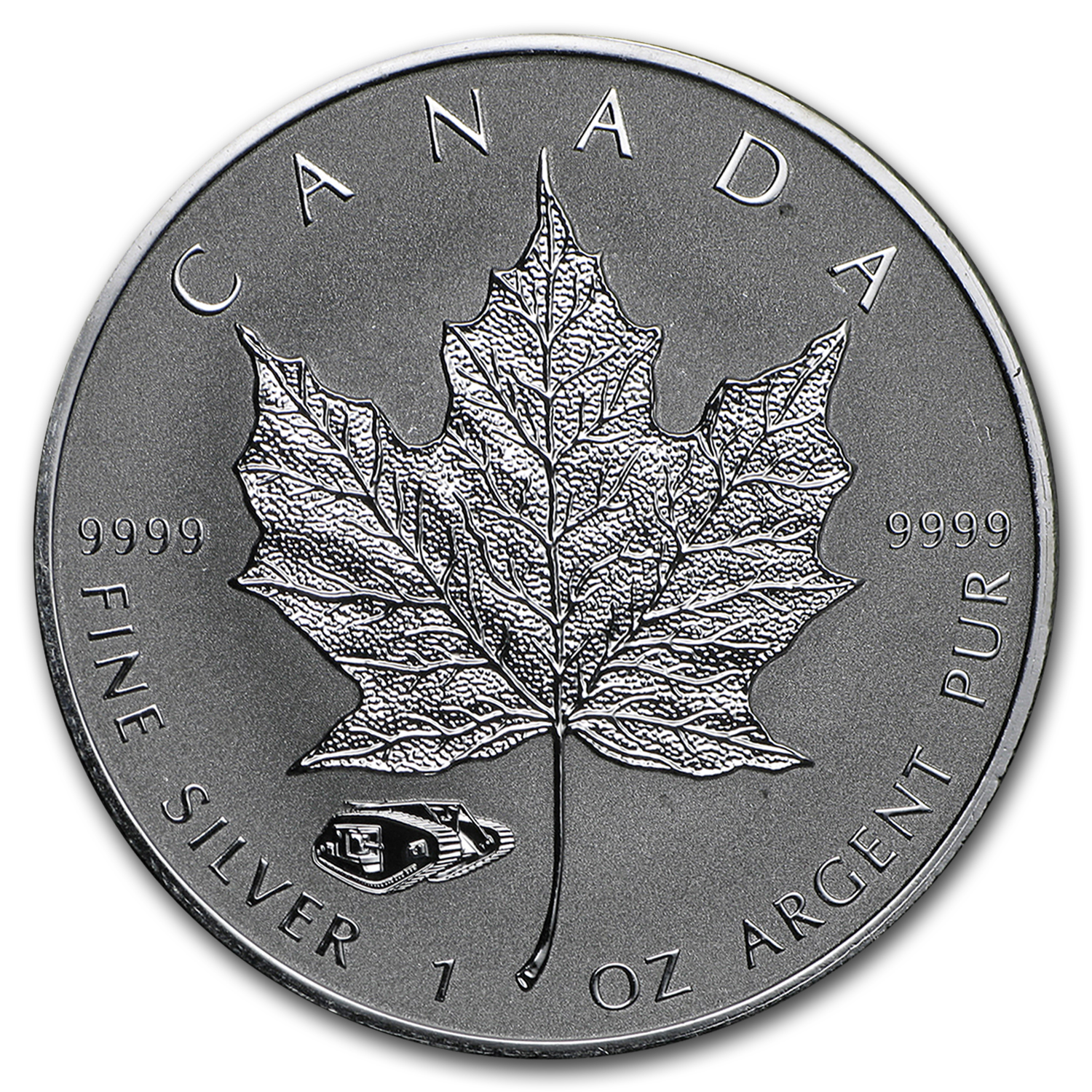 2016 Canada 1 oz Silver Maple Leaf Mark V Tank Privy
