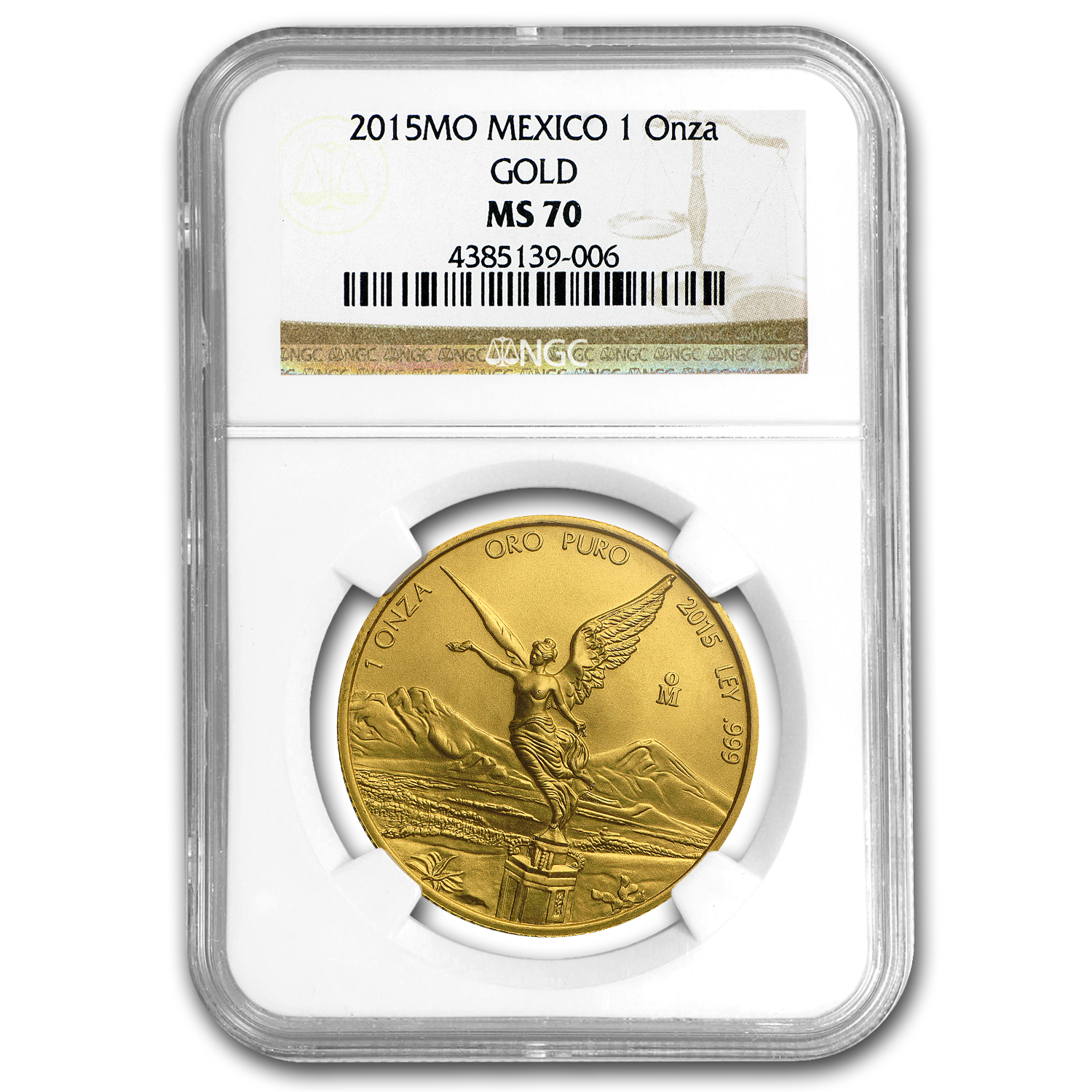 2015 Mexico 1 oz Gold Libertad MS-70 NGC
