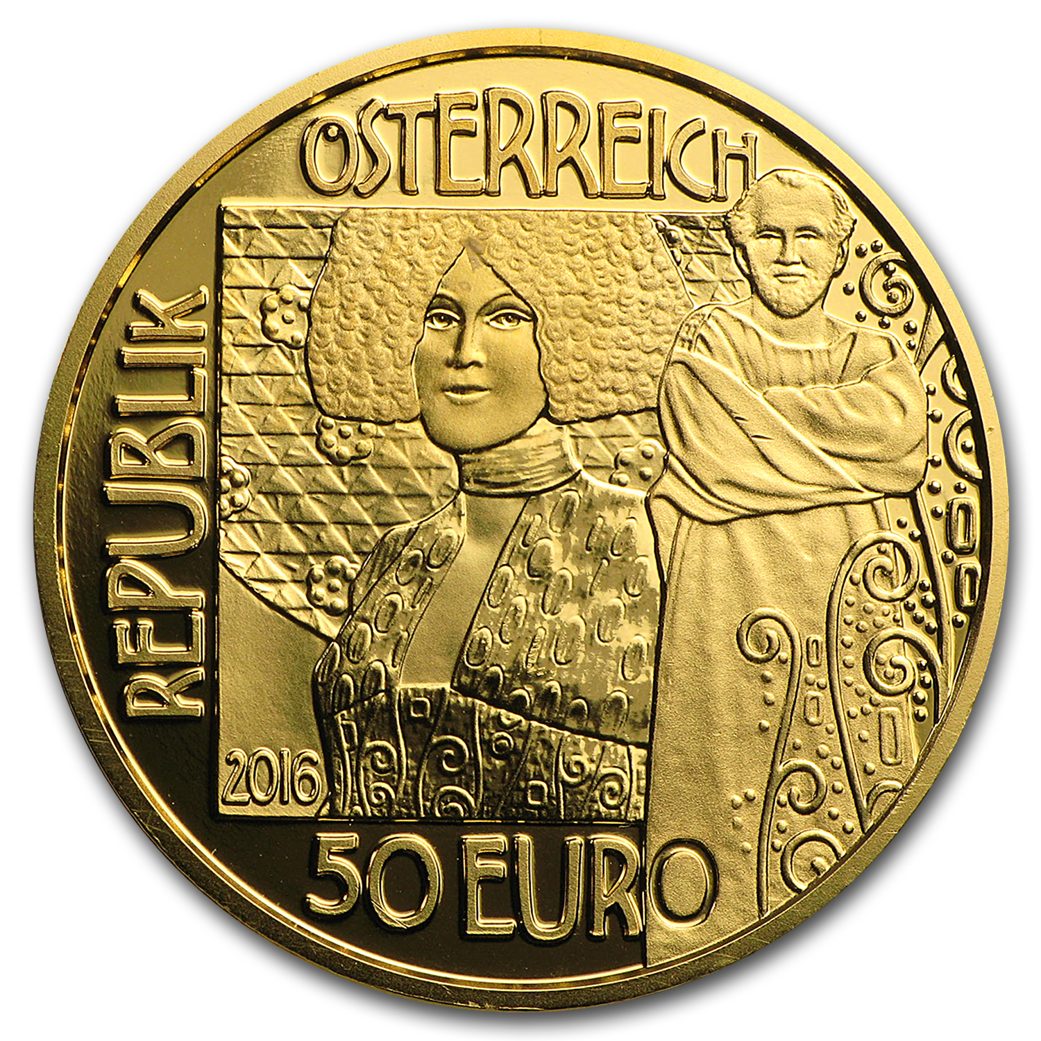 2016 Austria Gold Proof €50 Klimt Series (The Kiss)