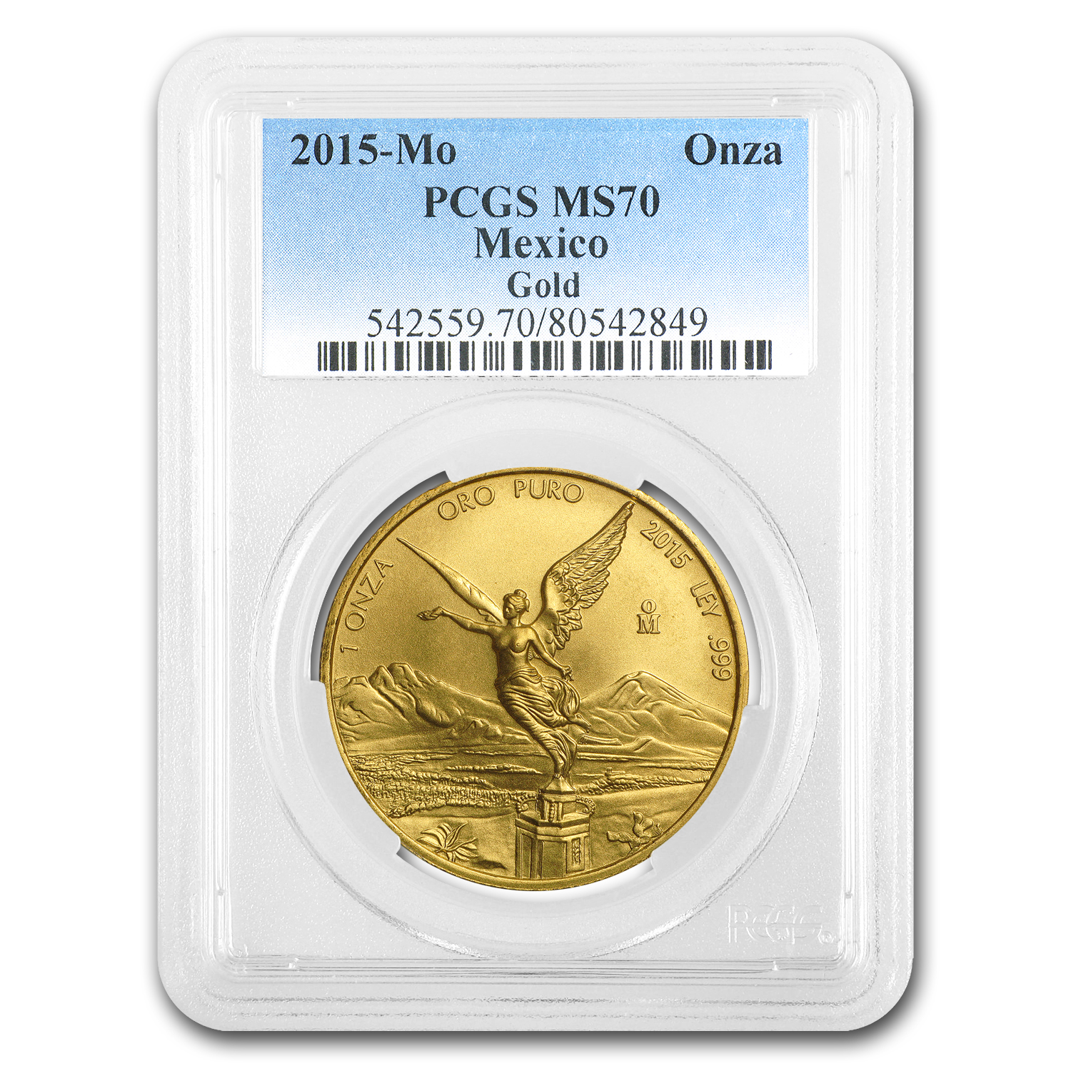 2015 Mexico 1 oz Gold Libertad MS-70 PCGS