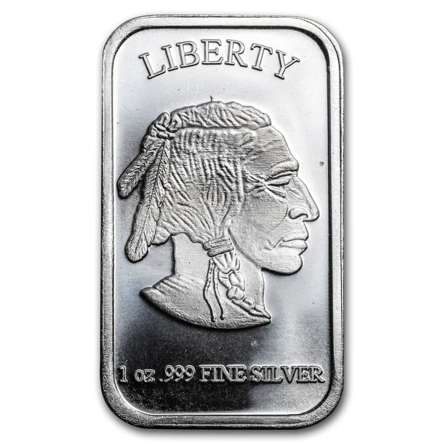 1 oz Silver Bar - Buffalo
