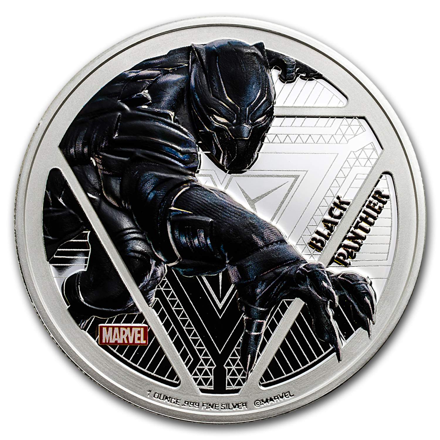 "2016 Fiji Proof Silver ""Captain America: Civil War"" Black Panther"