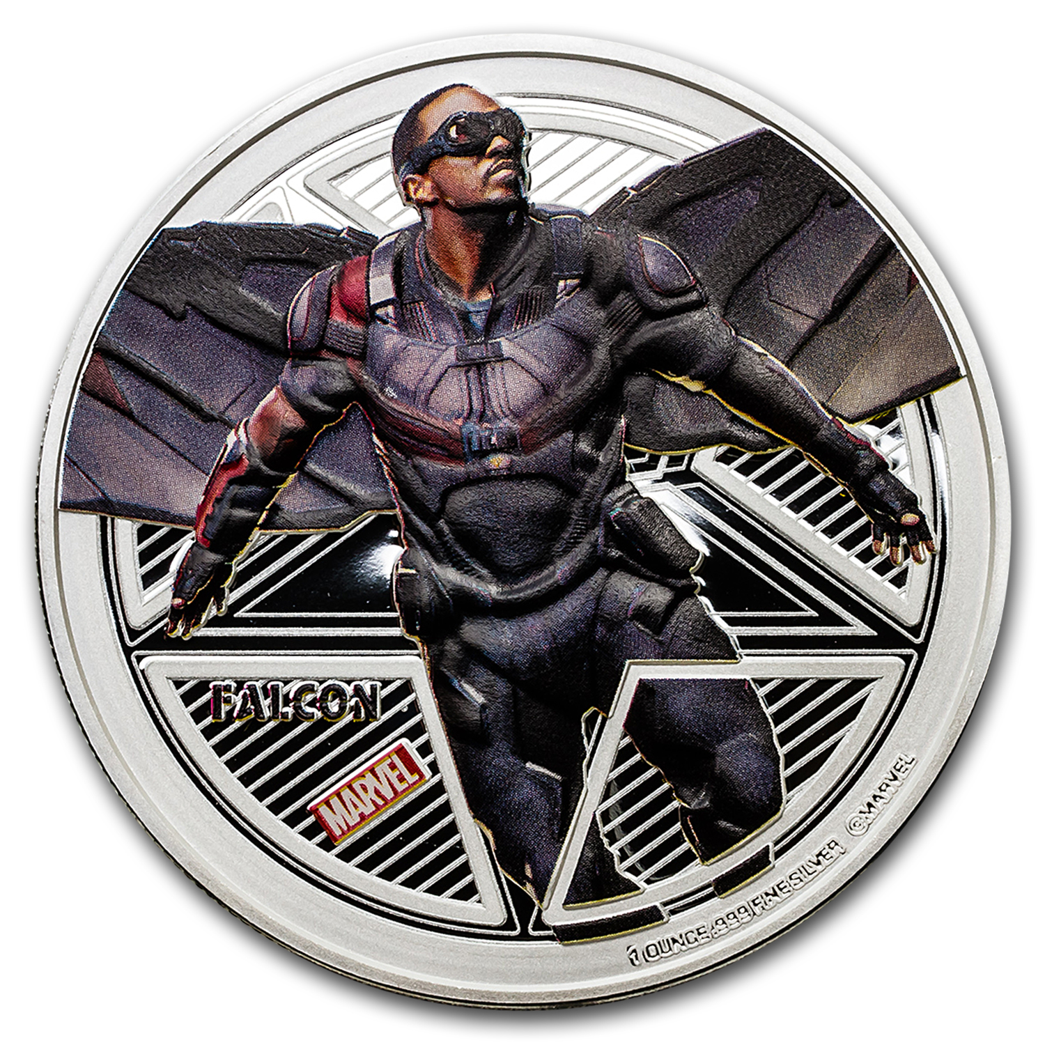 "2016 Fiji Proof Silver ""Captain America: Civil War"" Falcon"