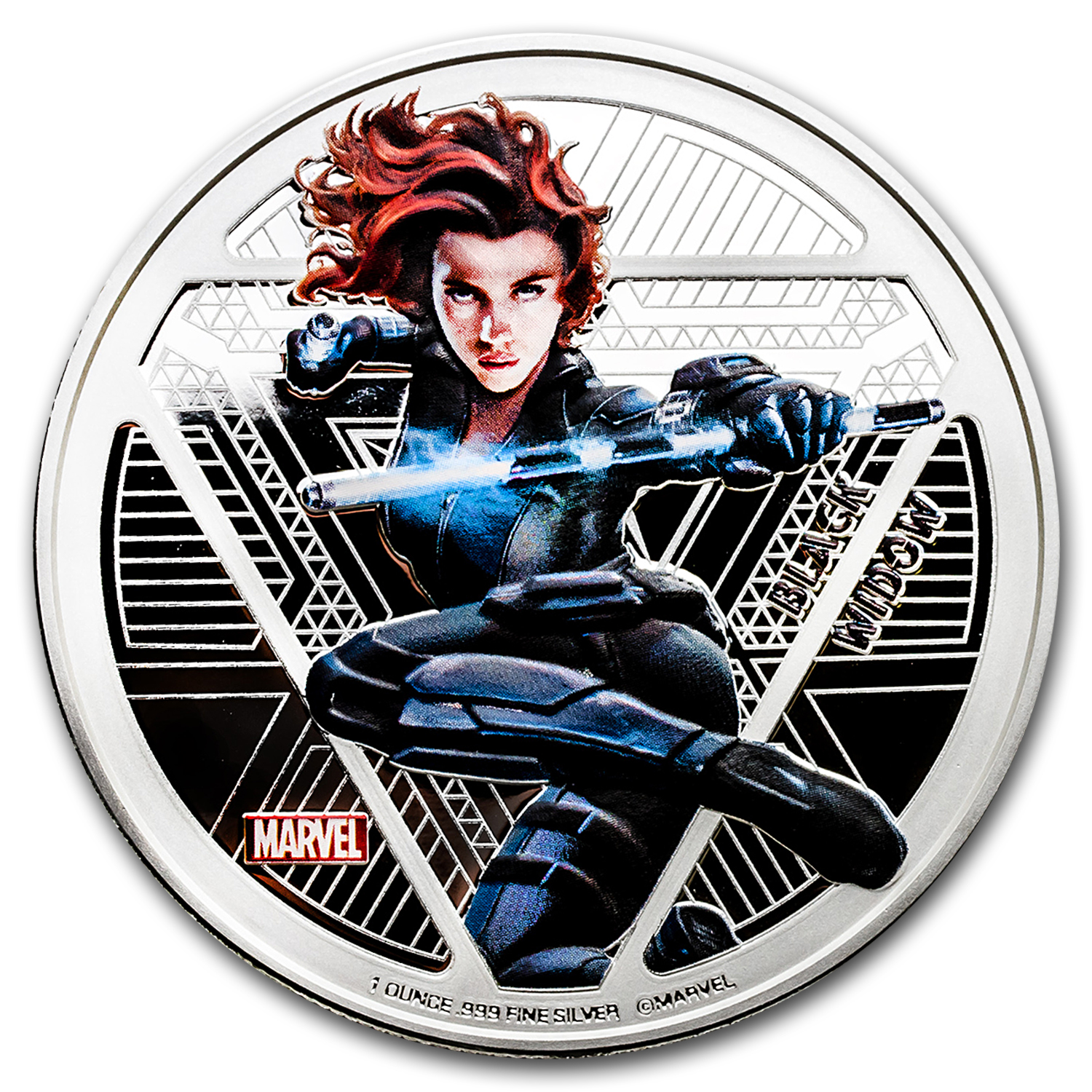 "2016 Fiji Proof Silver ""Captain America: Civil War"" Black Widow"