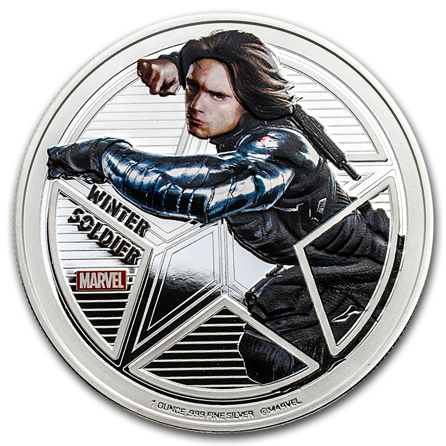 "2016 Fiji Prf Silver ""Captain America: Civil War"" Winter Soldier"