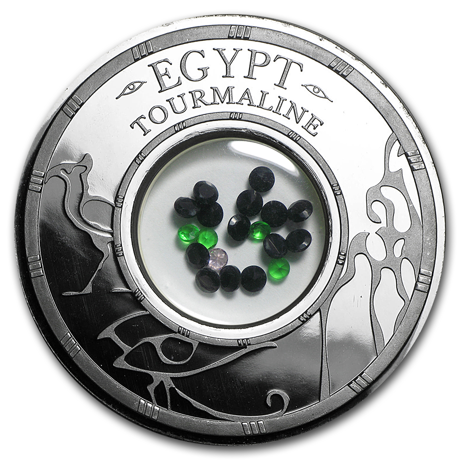 2016 Benin 1 oz Silver 1500 Francs Egypt Tourmaline Proof Coin
