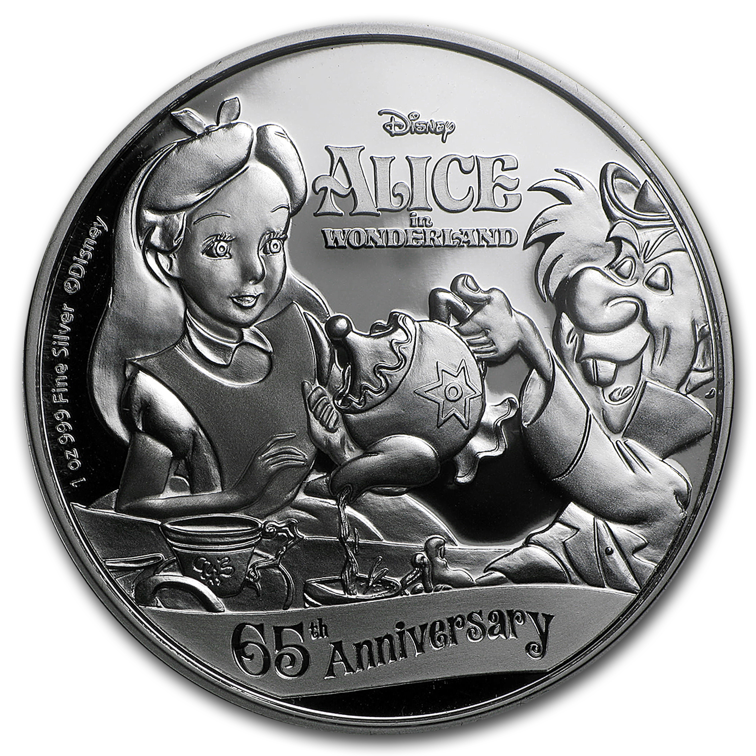 2016 Niue 1 oz Silver $2 Disney 65th Anniv of Alice in Wonderland