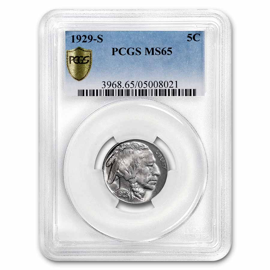 1929-S Buffalo Nickel MS-65 PCGS