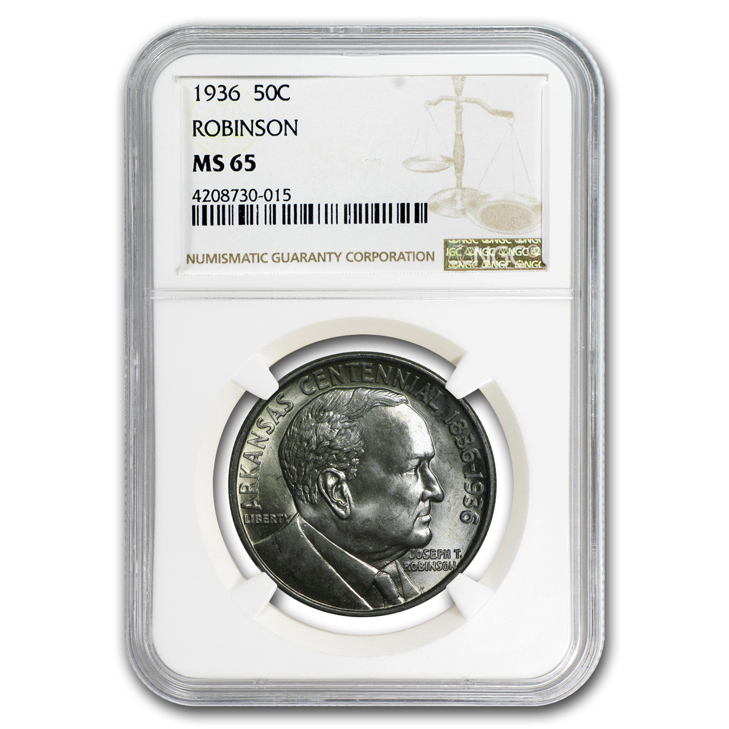 1936 Robinson-Arkansas Half Dollar MS-65 NGC