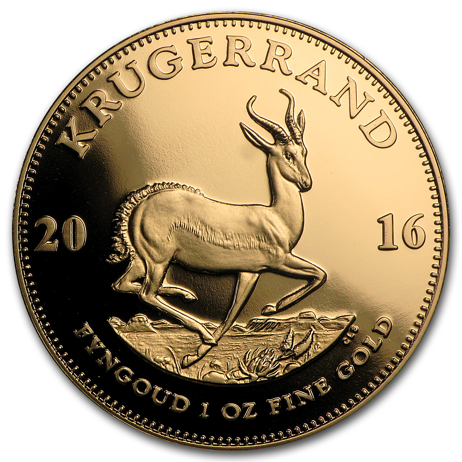 2016 South Africa 1 oz Gold Krugerrand Proof