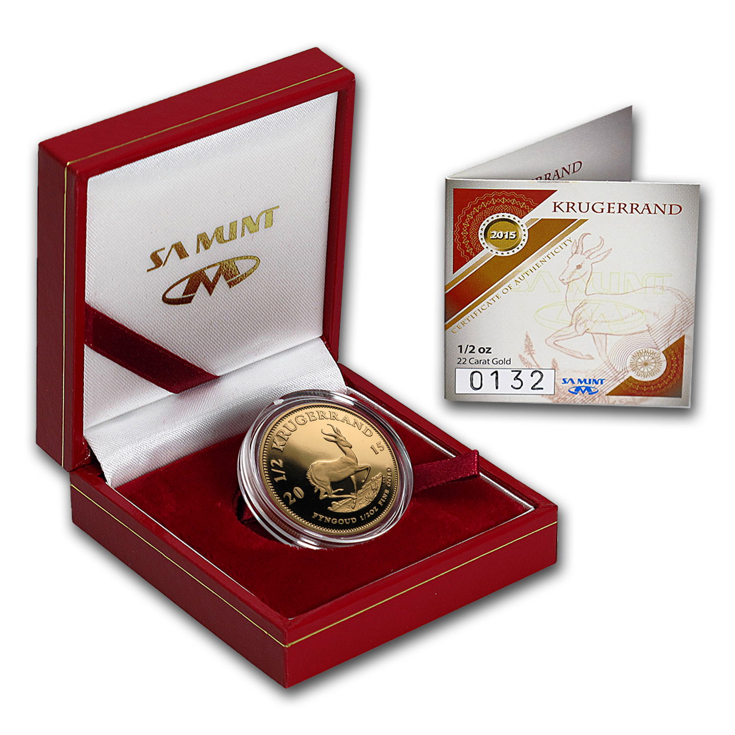 2015 South Africa 1/2 oz Proof Gold Krugerrand