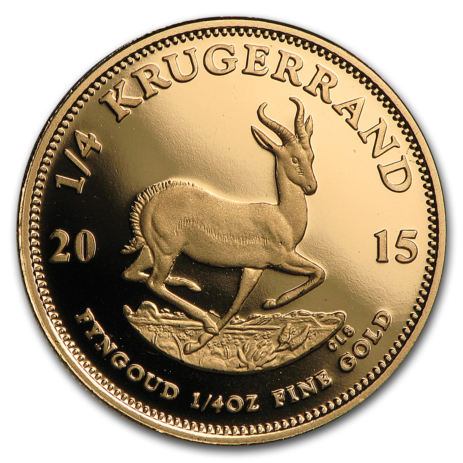 2015 South Africa 1/4 oz Proof Gold Krugerrand