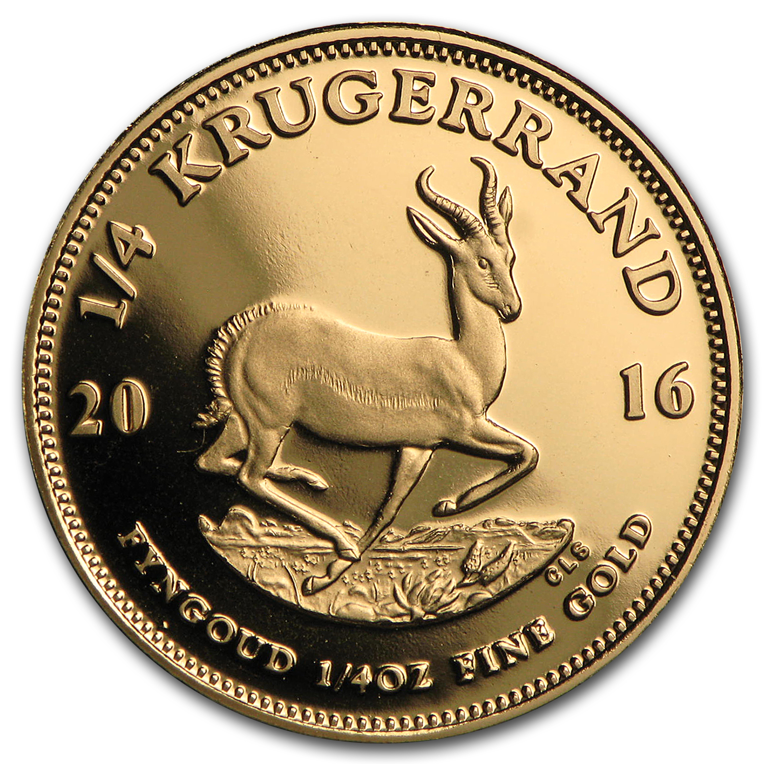 2016 South Africa 1/4 oz Proof Gold Krugerrand