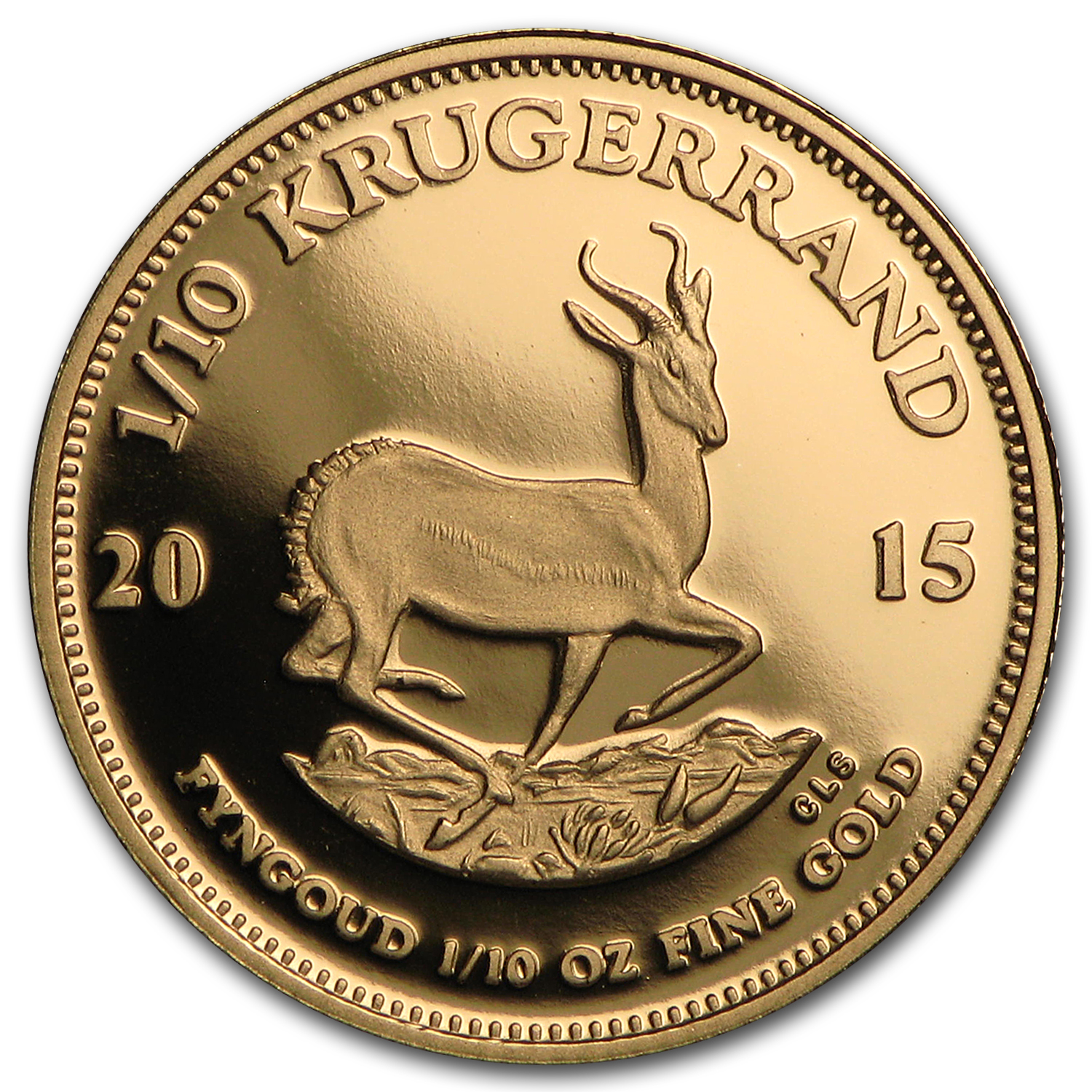 2015 South Africa 1/10 oz Proof Gold Krugerrand