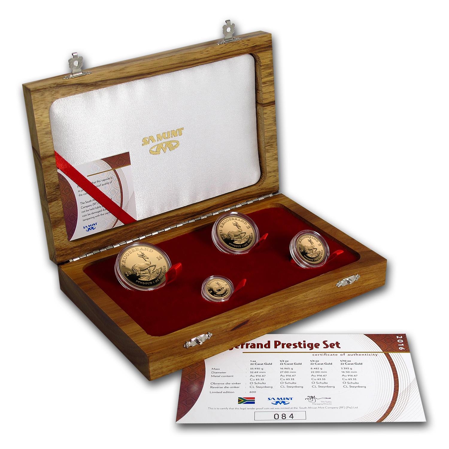 2016 South Africa 4-Coin Gold Krugerrand Proof Set