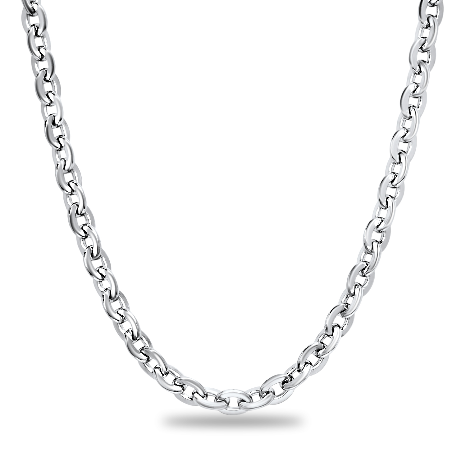 Stainless Steel Polished Circle Necklace
