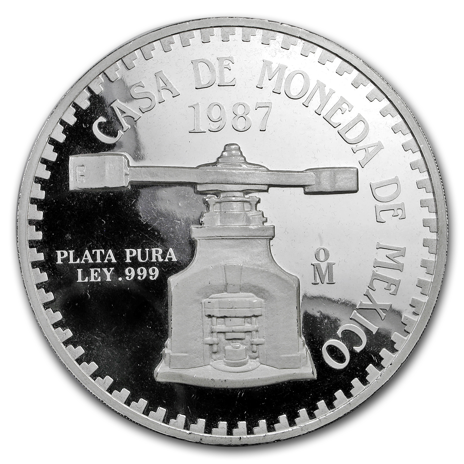 1987 Mexico 12 oz Silver 12 Onzas Panda Proof