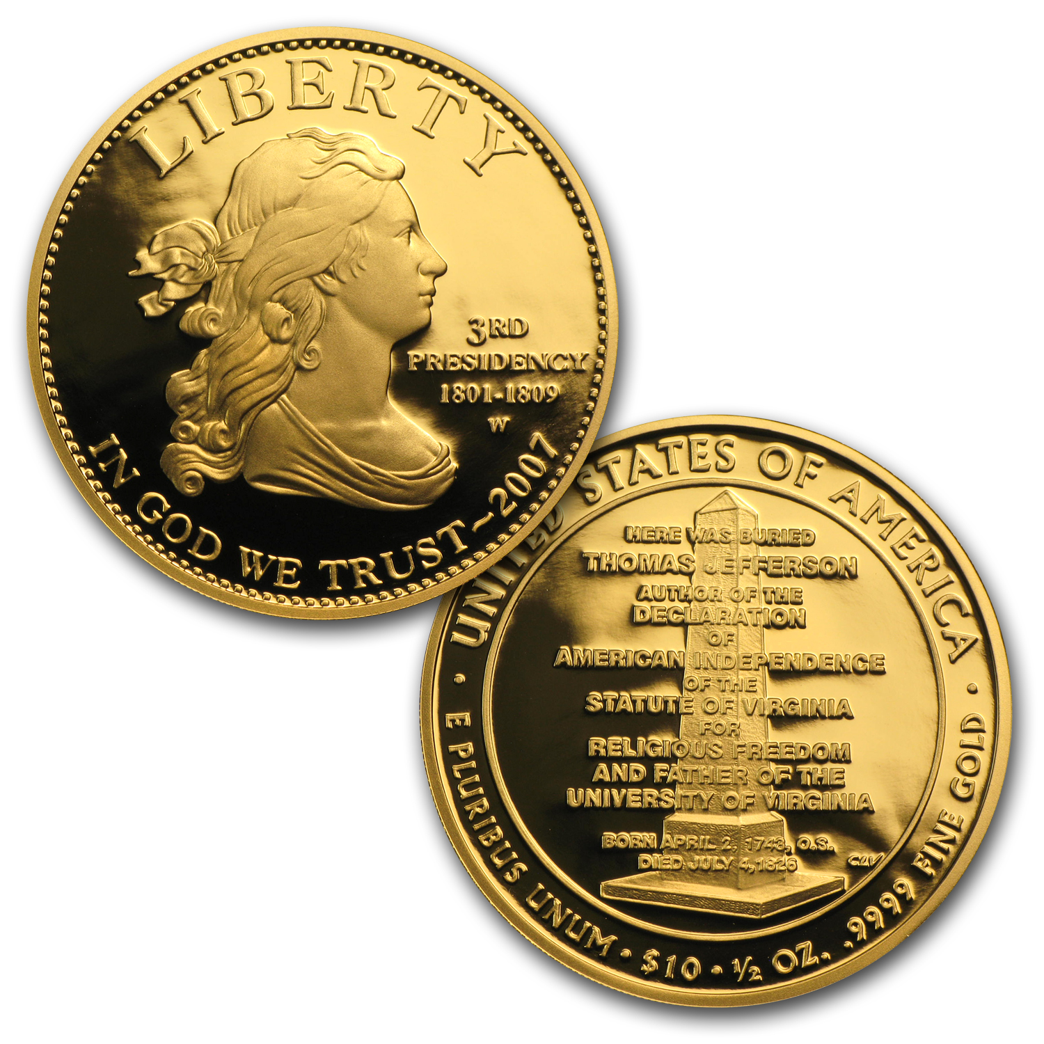 4-Coin Gold First Spouse Liberty Proof Set (with Box/COA)