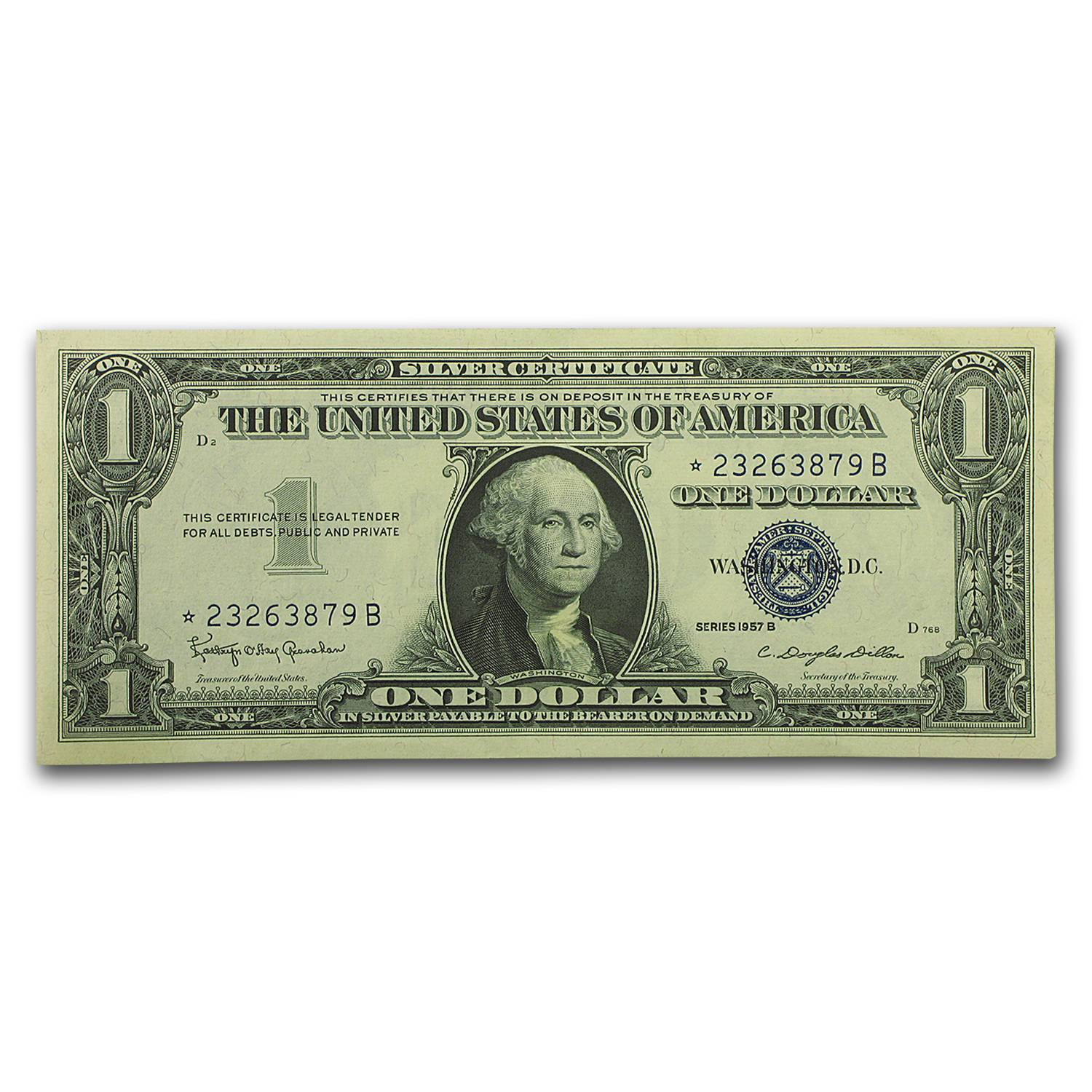 1957* $1.00 Silver Certificate CCU (19 Consecutive Star Notes)