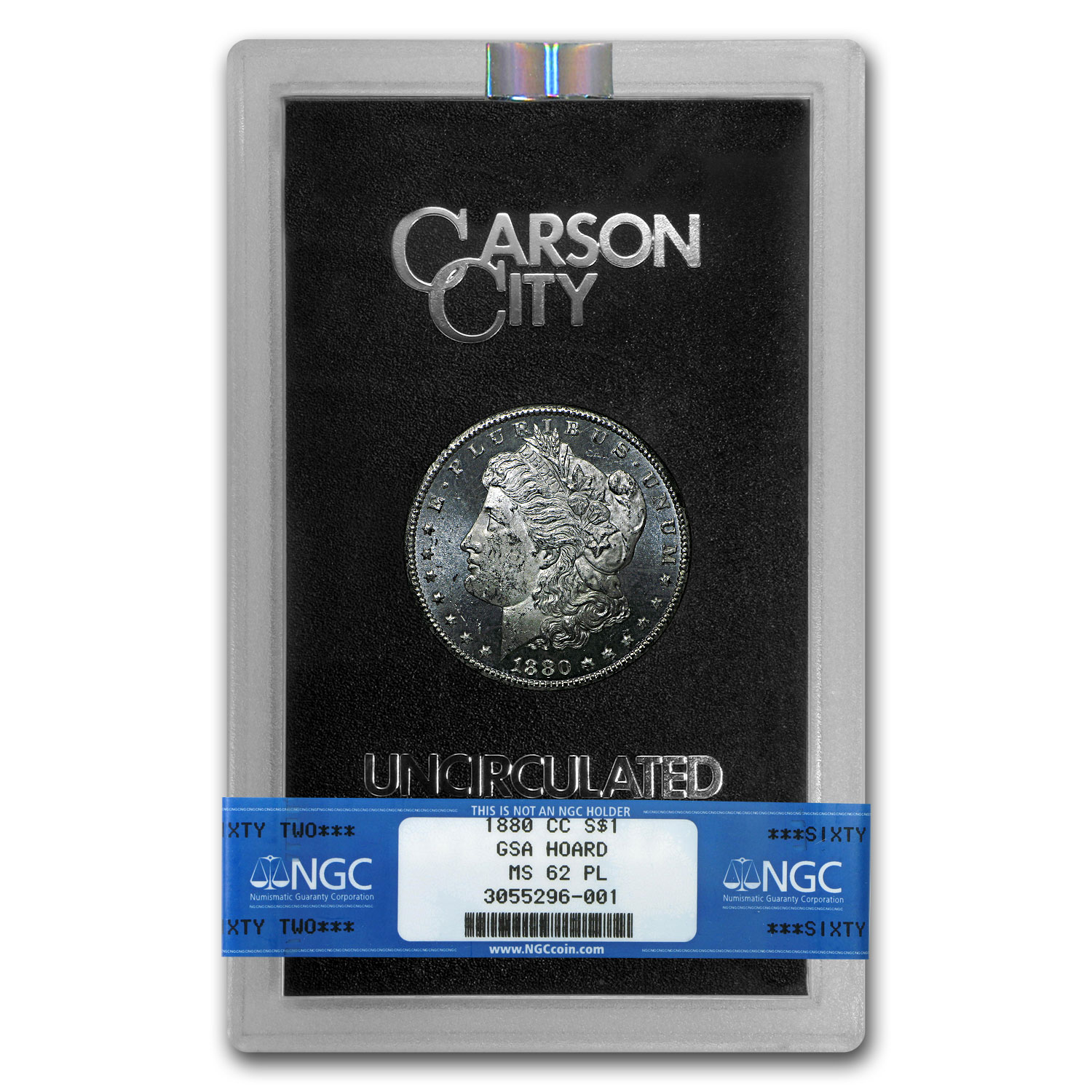 1880-CC Morgan Dollar MS-62 PL NGC (GSA)