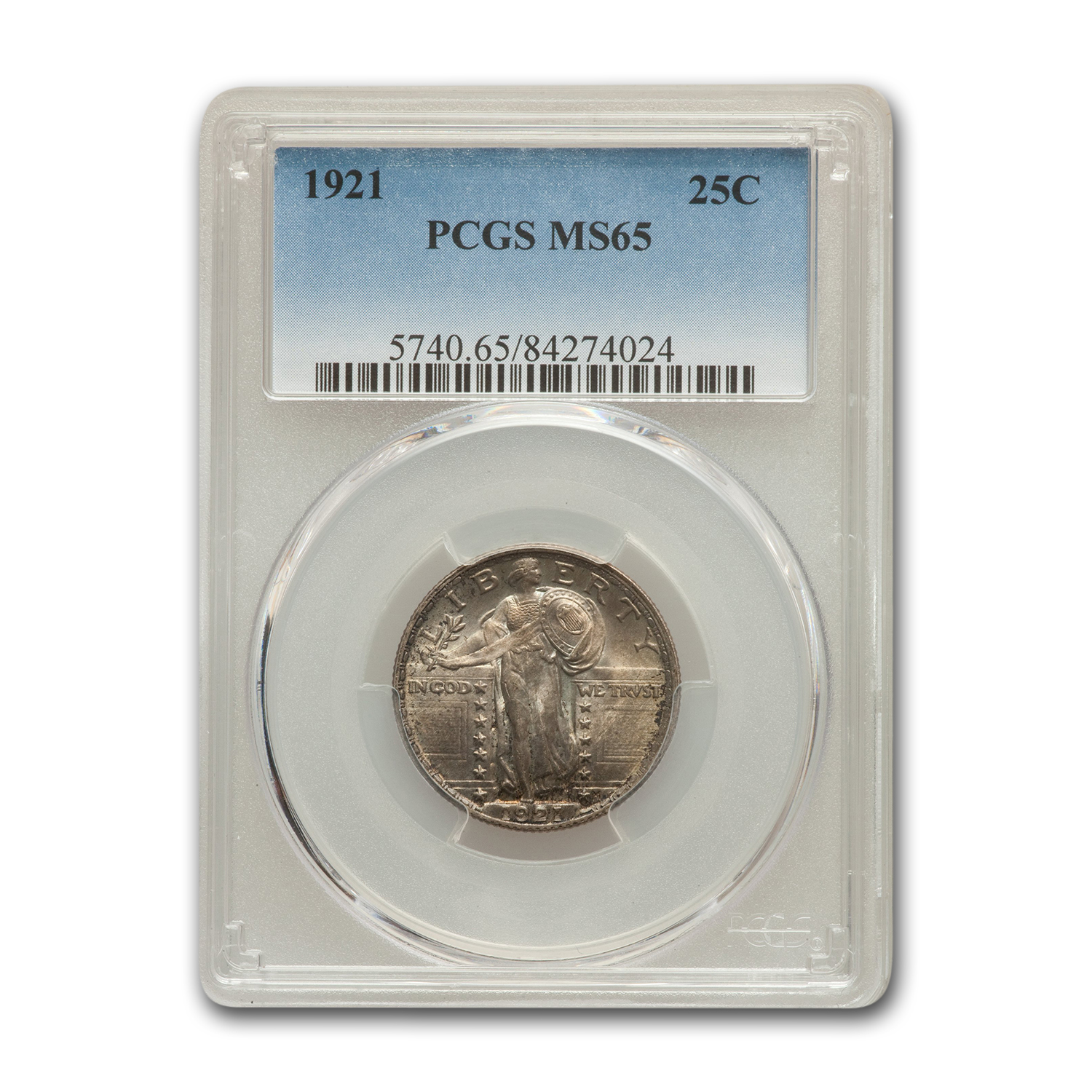 1921 Standing Liberty Quarter MS-65 PCGS
