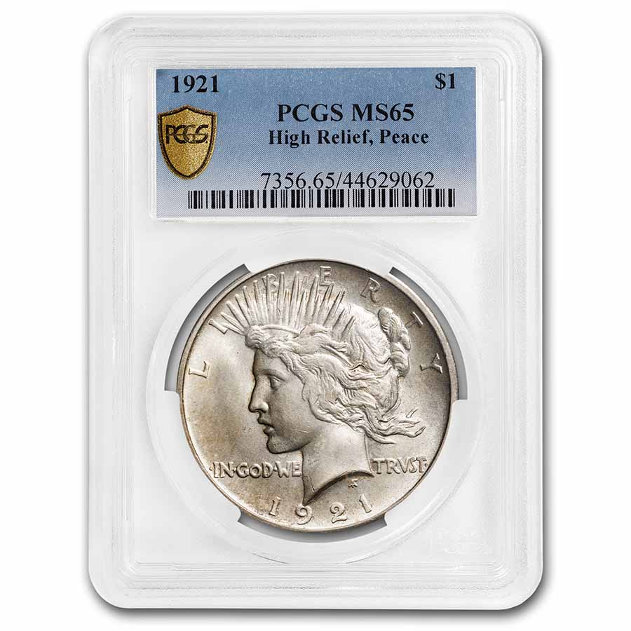 1921 Peace Dollar MS-65 PCGS