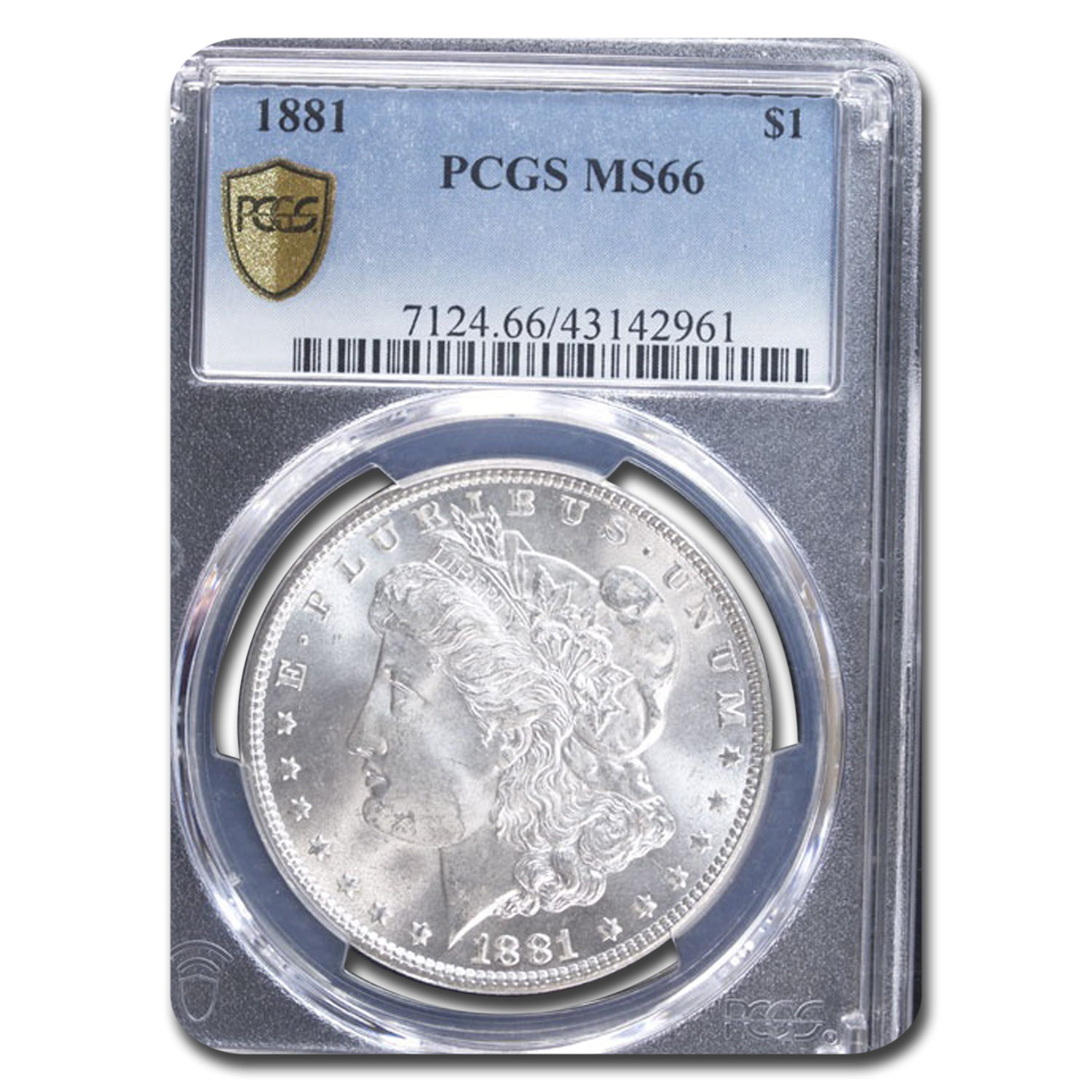 1881 Morgan Dollar MS-66 PCGS