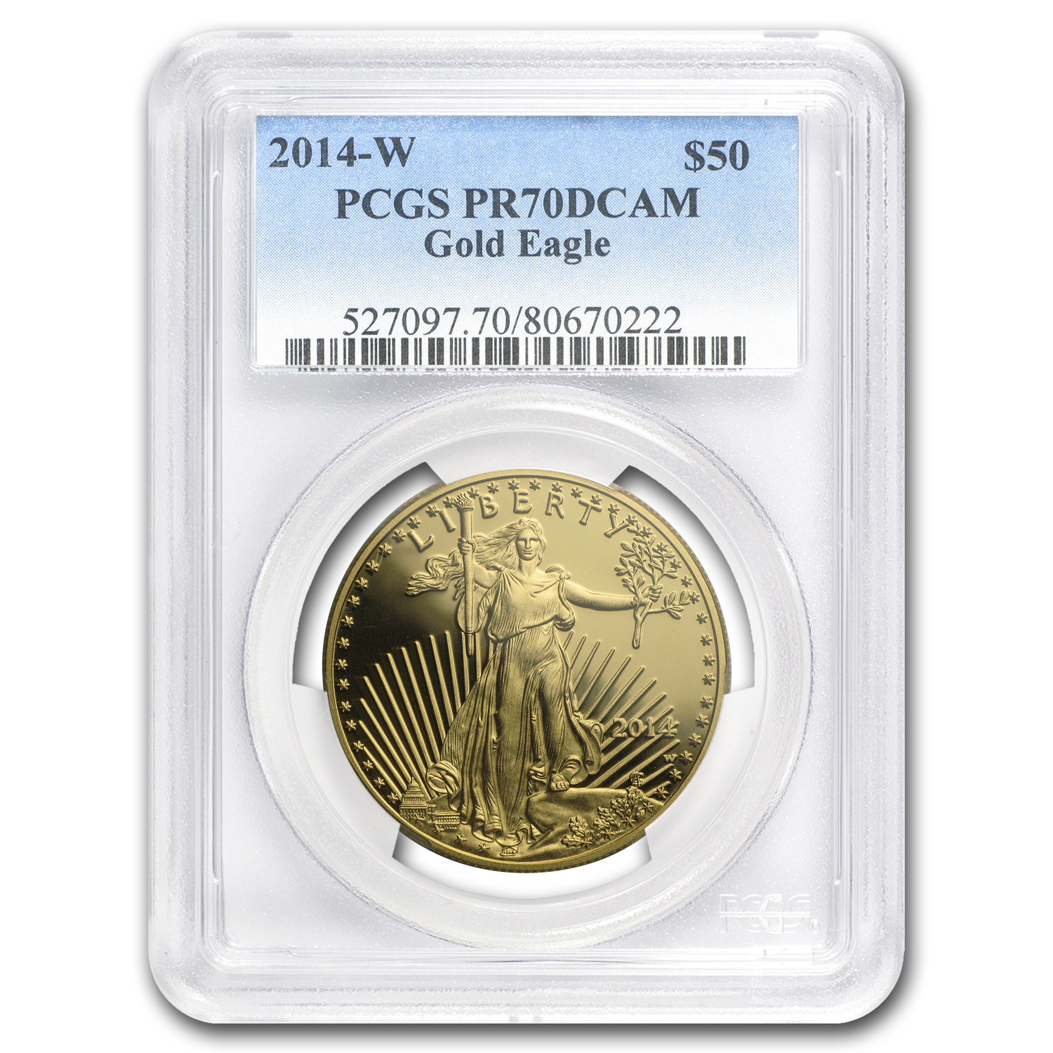 2014-W 1 oz Proof Gold American Eagle PR-70 PCGS