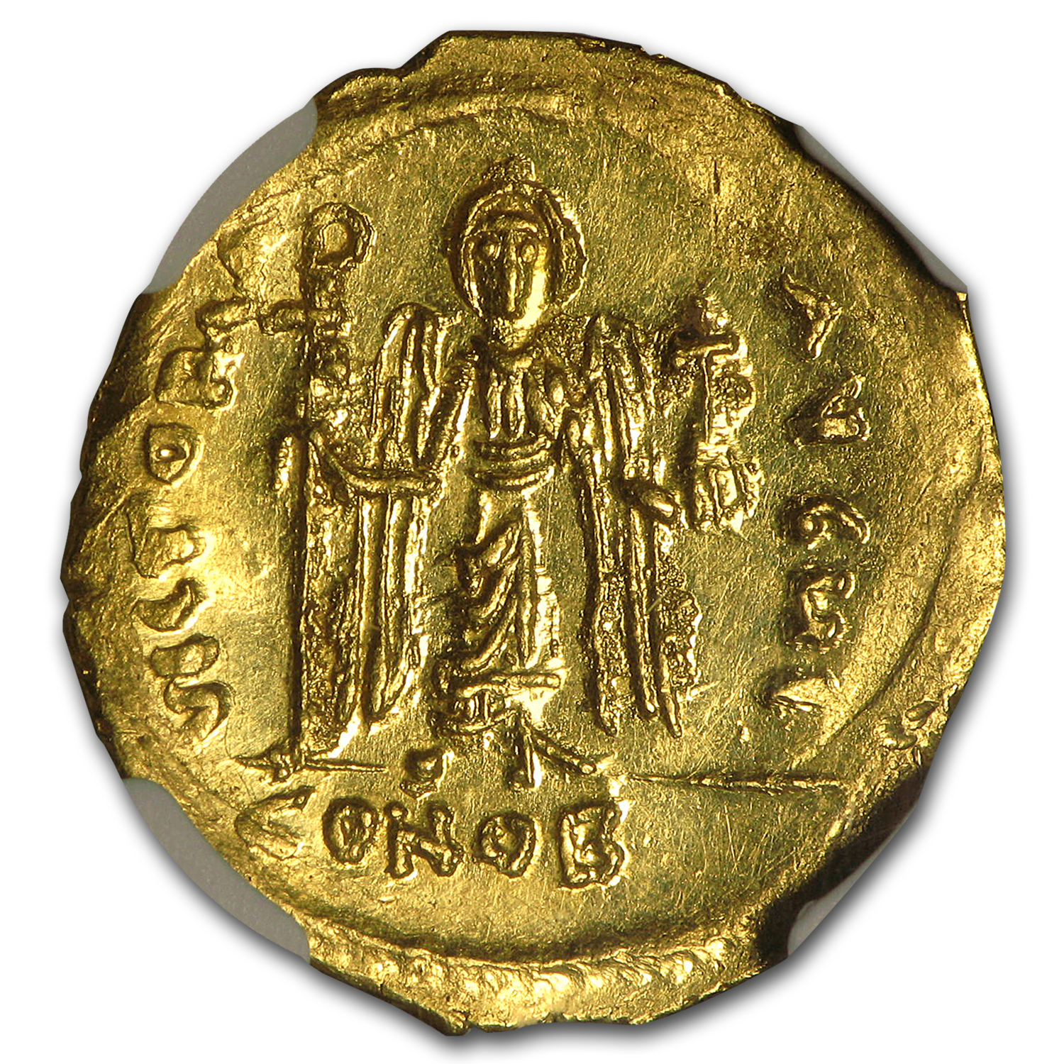Byzantine Gold Emperor Phocas (602-610 AD) MS NGC