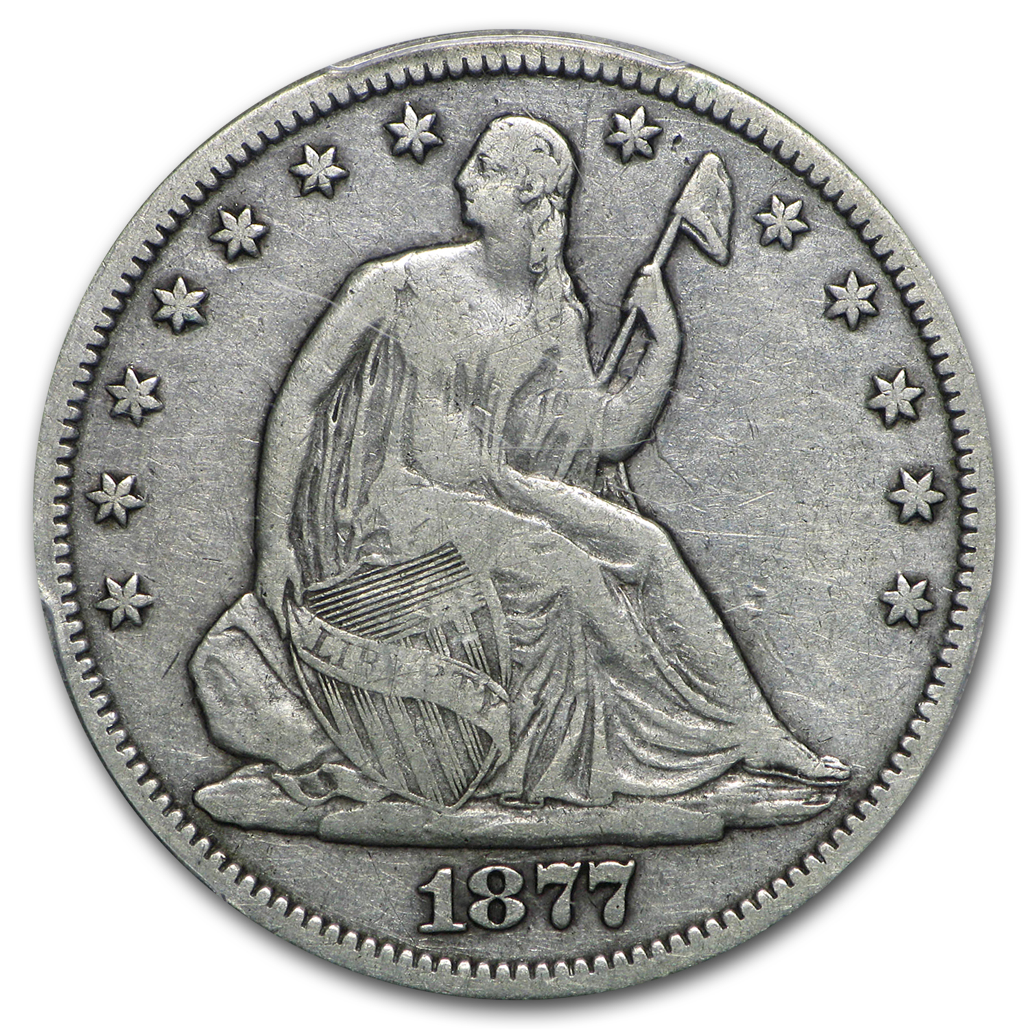 1877-CC Liberty Seated Half Dollar VF-20 PCGS