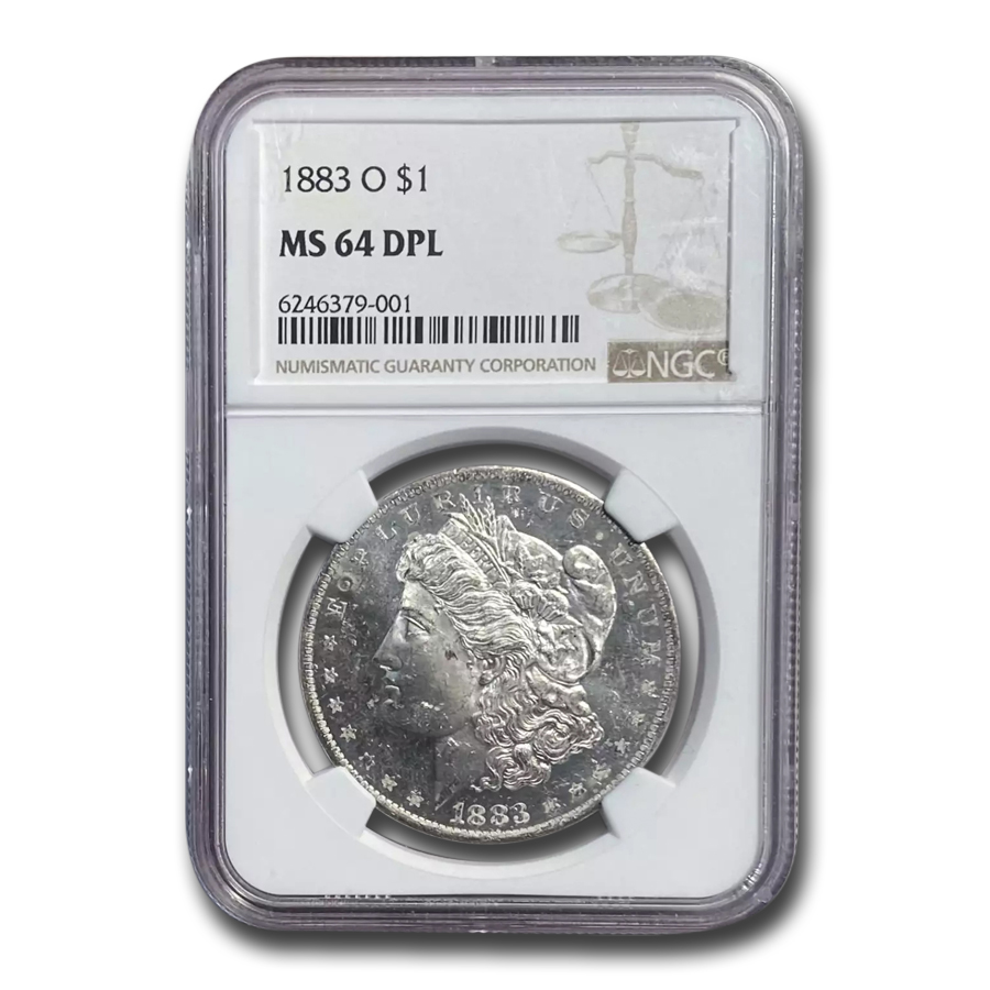 1883-O Morgan Dollar MS-64 DPL NGC