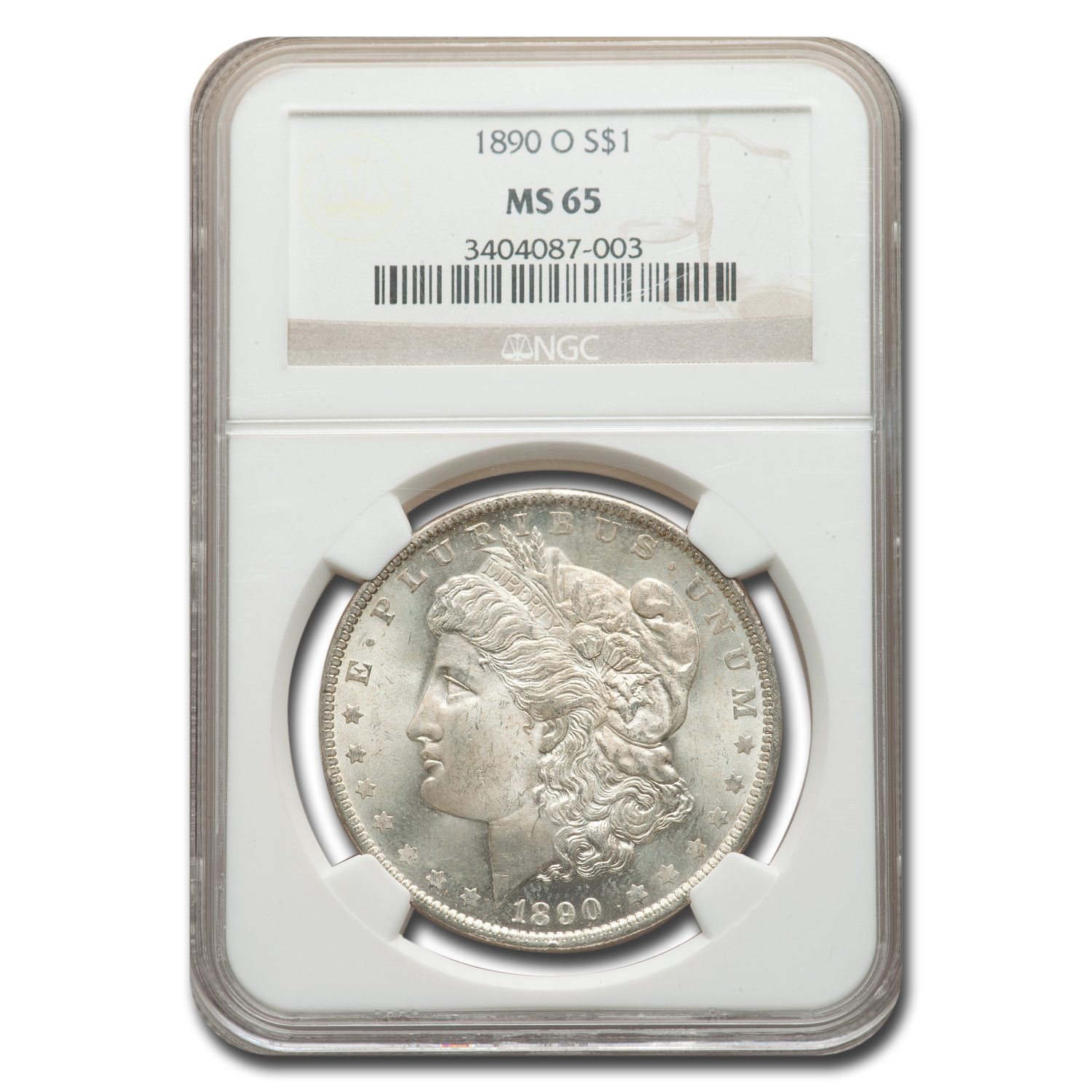 1890-O Morgan Dollar MS-65 NGC