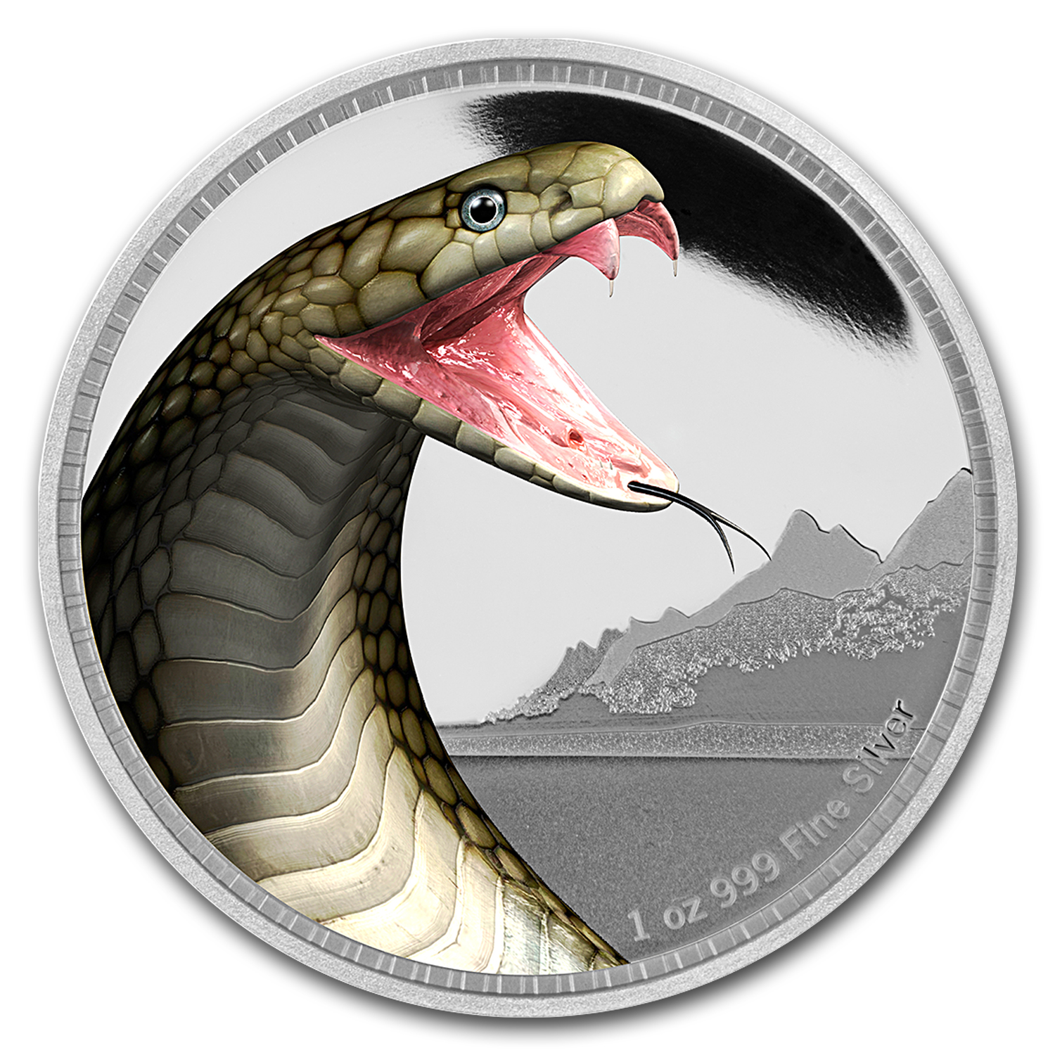 2016 Niue 1 oz Silver Kings of Continents King Cobra