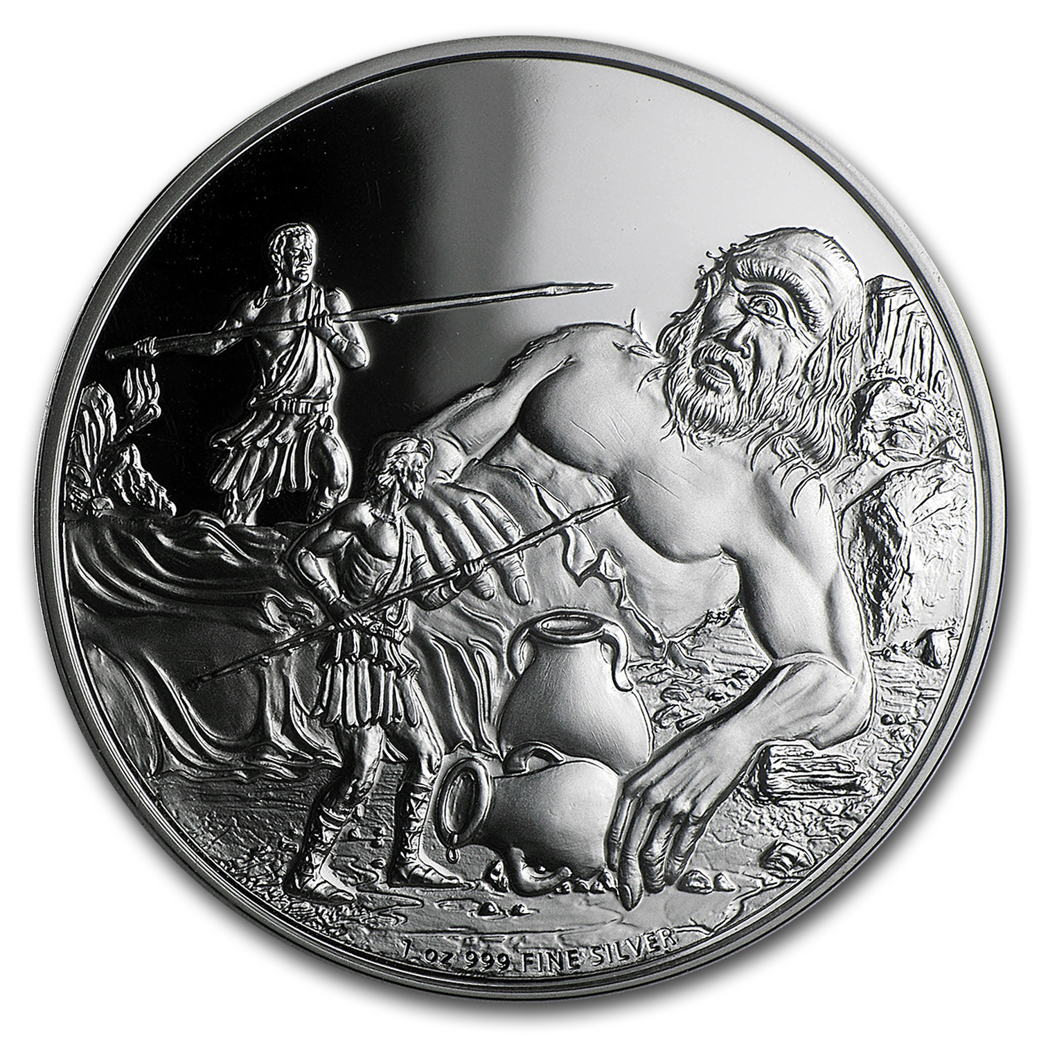 2016 Niue 1 oz Silver $2 Creatures of Greek Mythology Cyclops