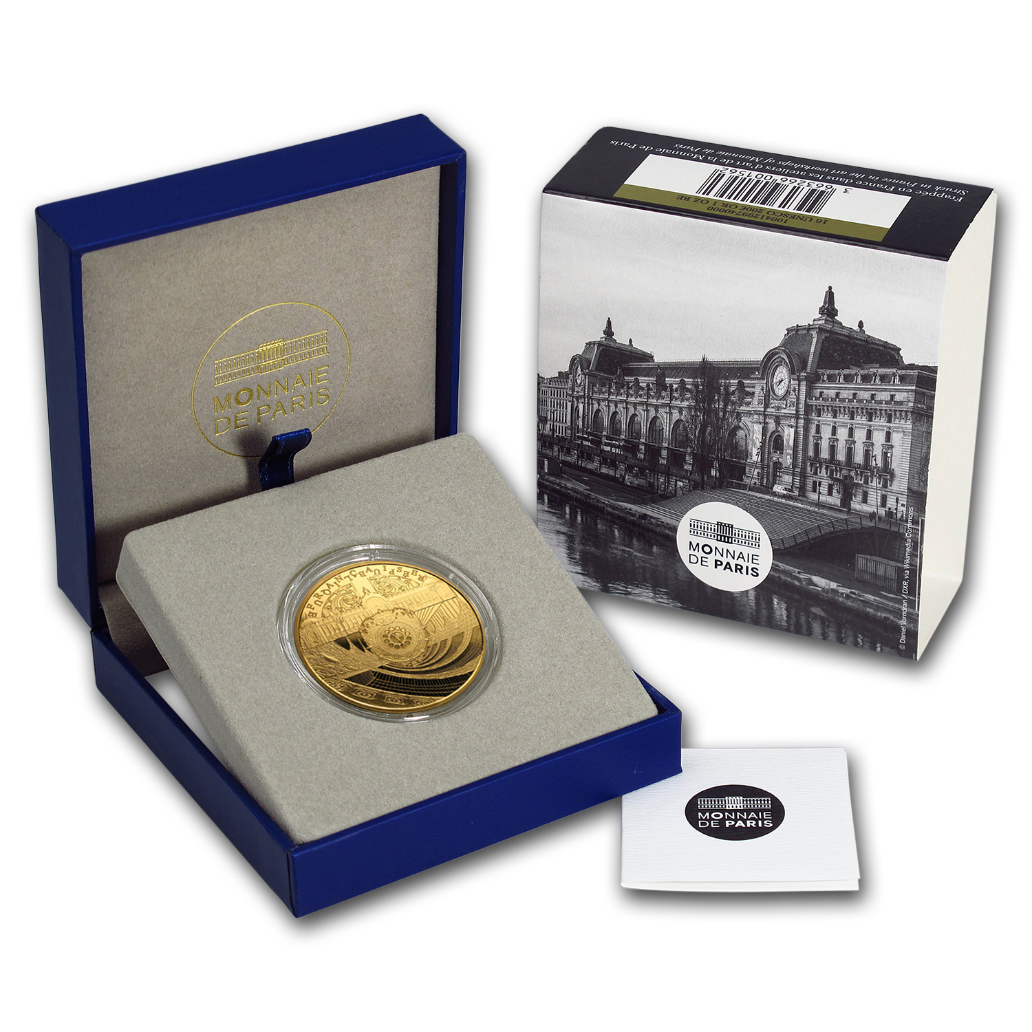 2016 France 1 oz Gold €200 UNESCO (Orsay and the Petit Palais)