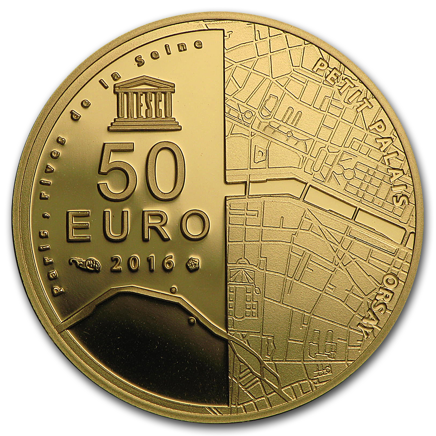 2016 1/4 oz Proof Gold UNESCO (Orsay and the Petit Palais)