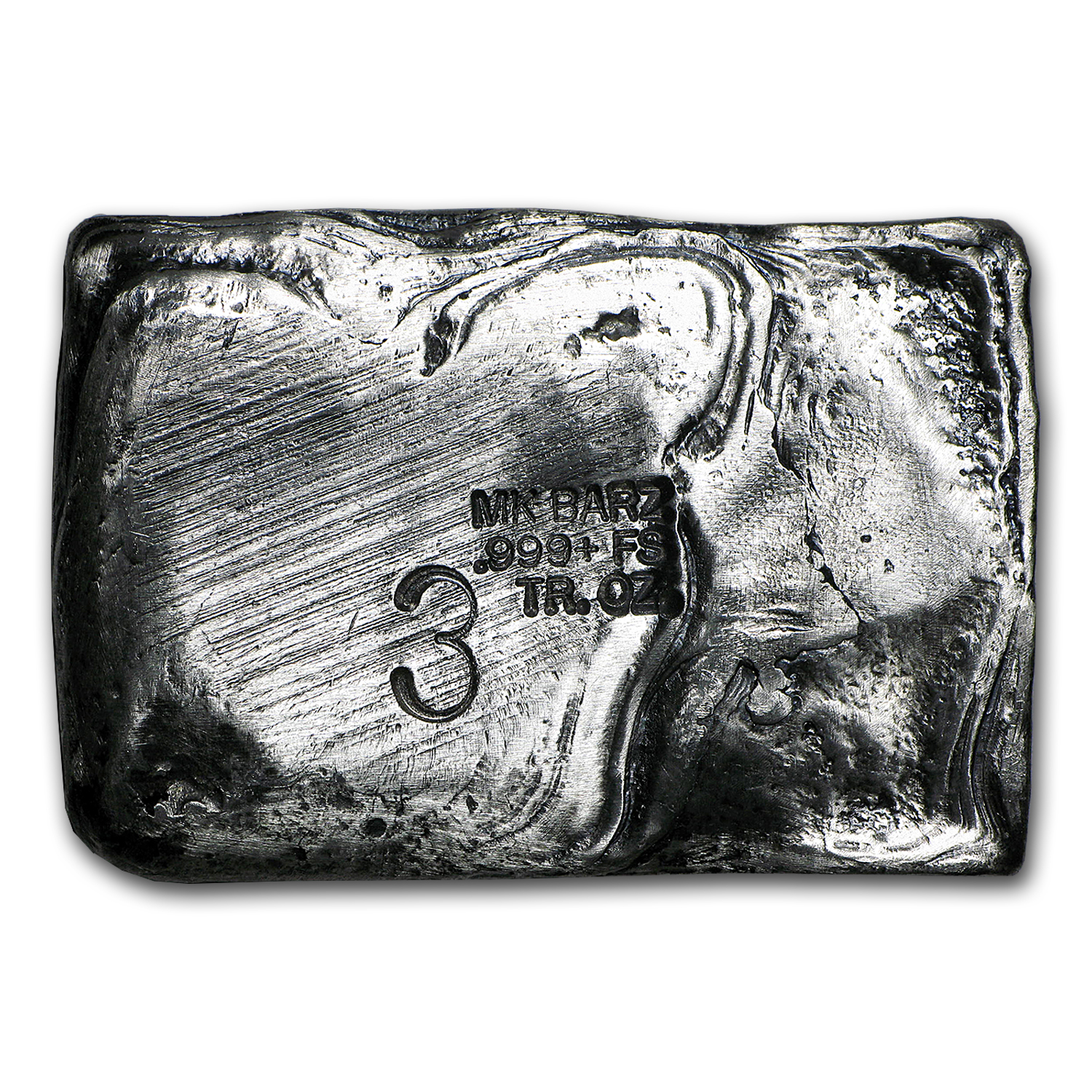 3 oz Silver Bar - Zombie (Limited Edition, Death to Zombies)