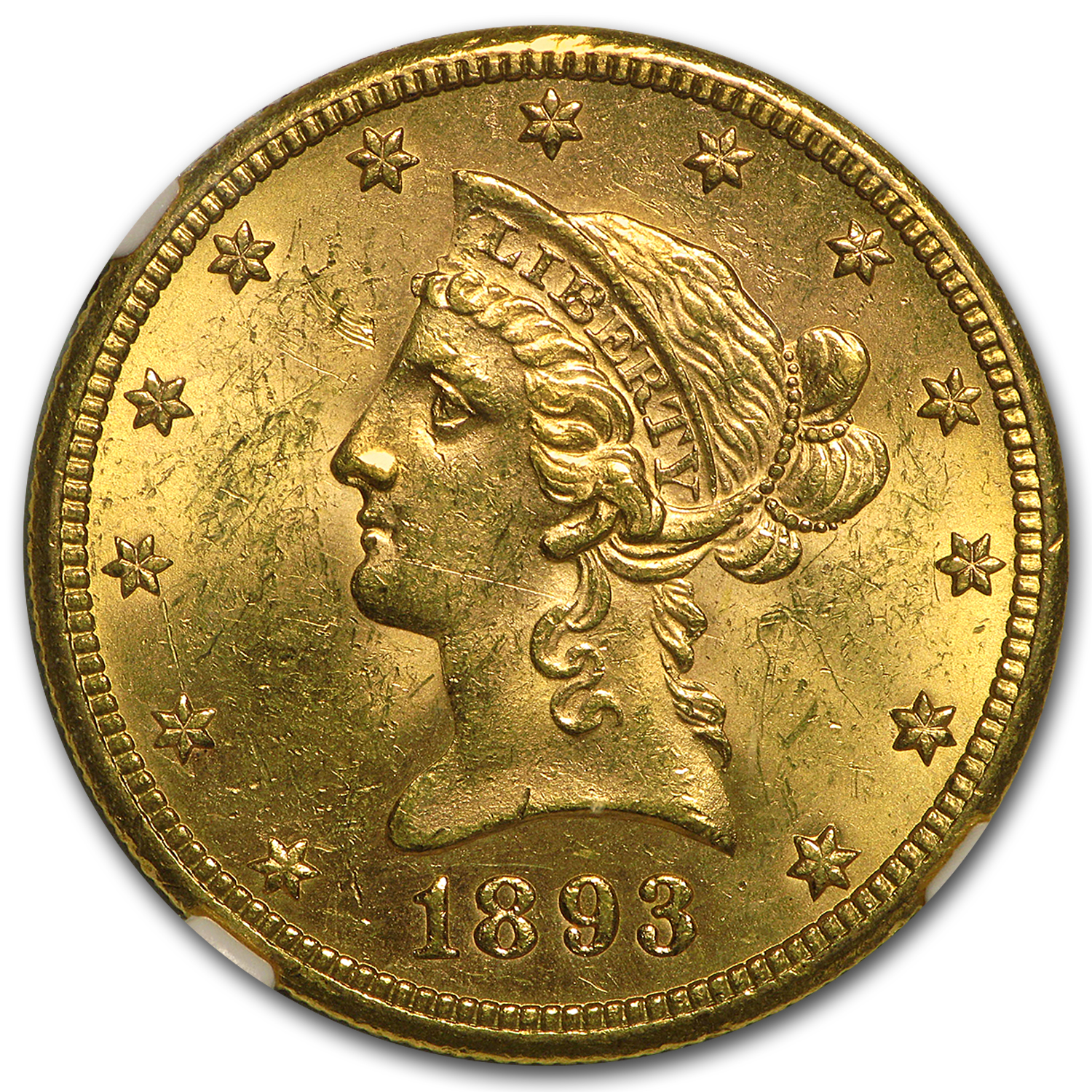 1893-S $10 Liberty Gold Eagle MS-61 NGC
