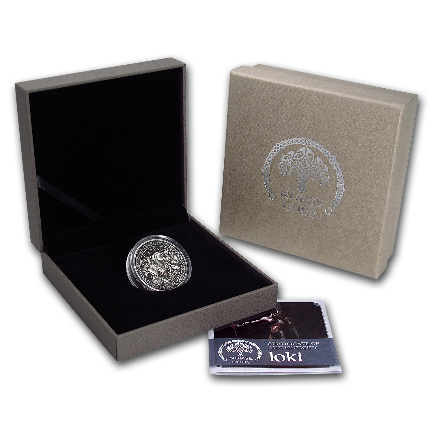 2016 Cook Islands 2 oz Silver High Relief Norse Gods: Loki