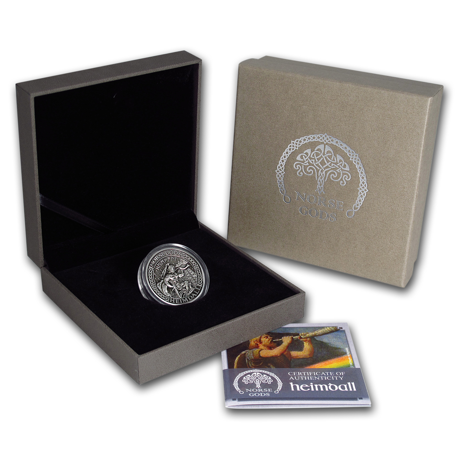 2016 Cook Islands 2 oz Silver High Relief Norse Gods: Heimdall