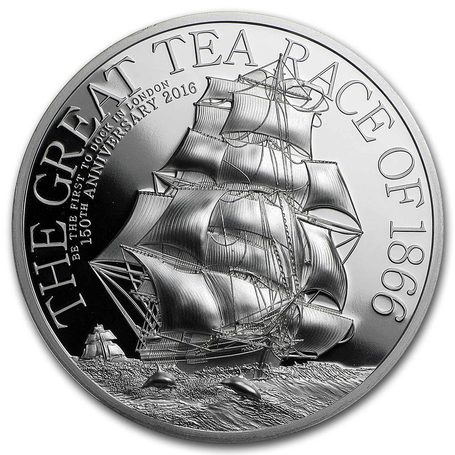 2016 Cook Islands 1 oz Silver $5 The Great Tea Race