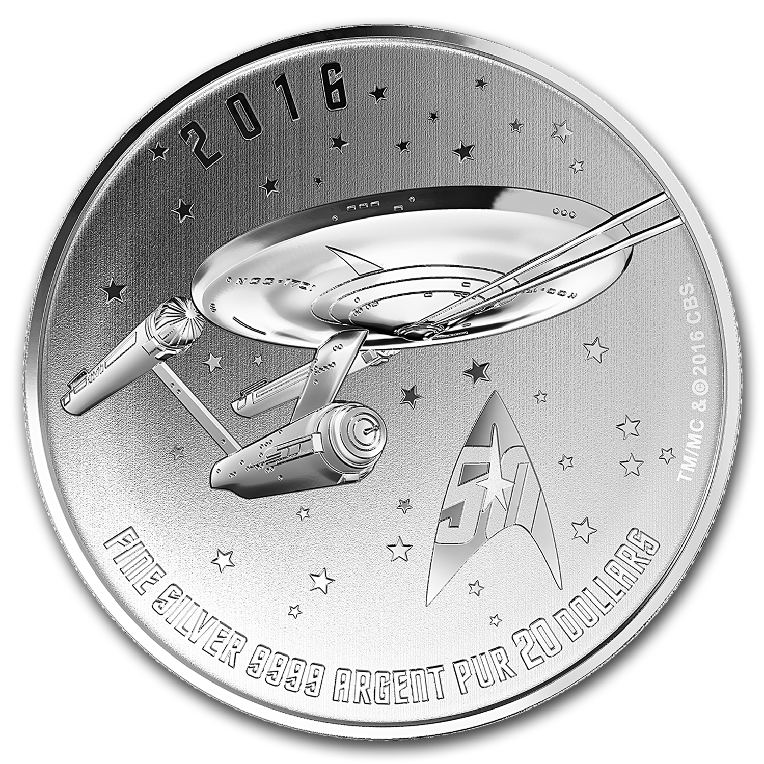 2016 Canada 1/4 oz Silver $20 Star Trek: Enterprise