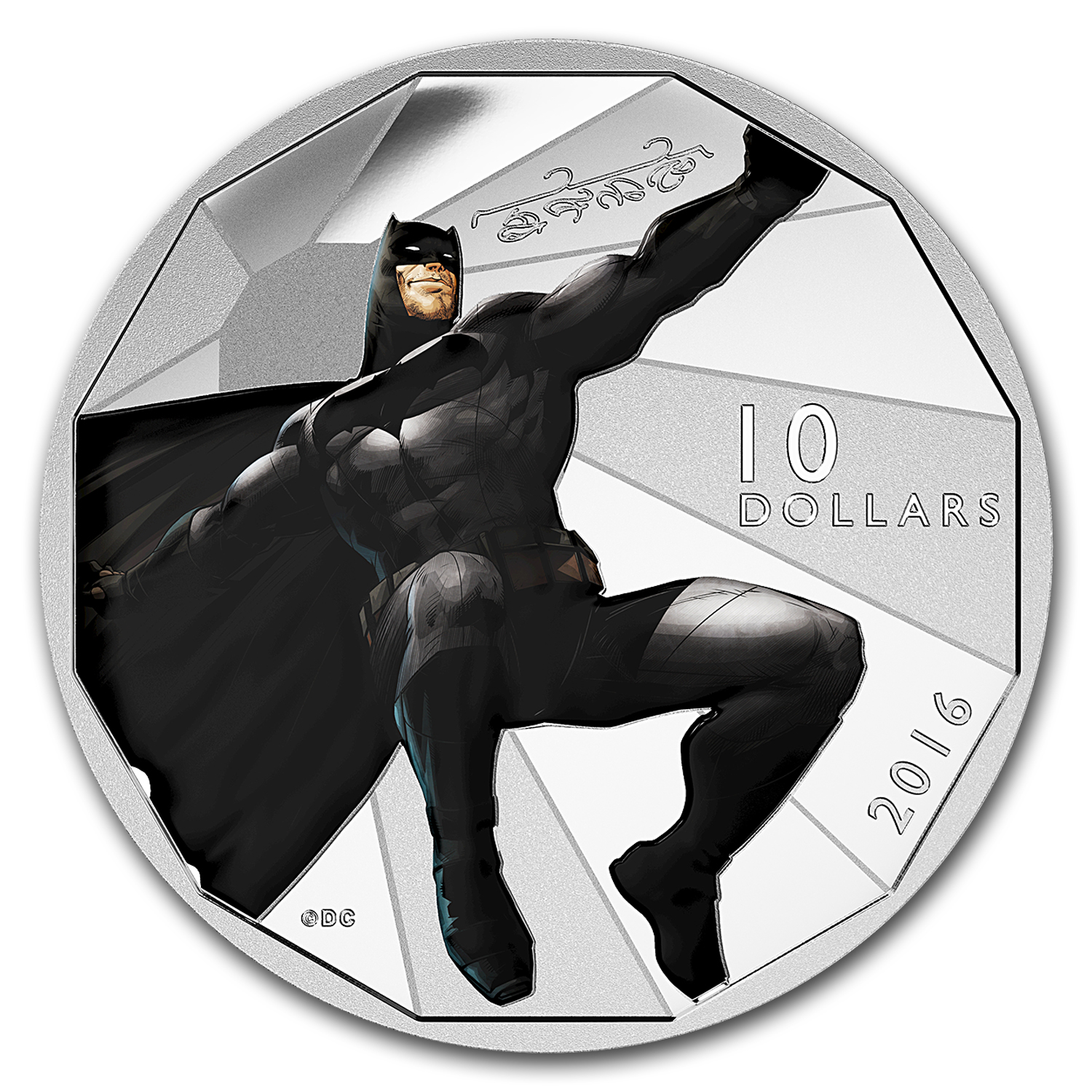 2016 Canada 1/2 oz Silver $10 Batman v Superman: Batman