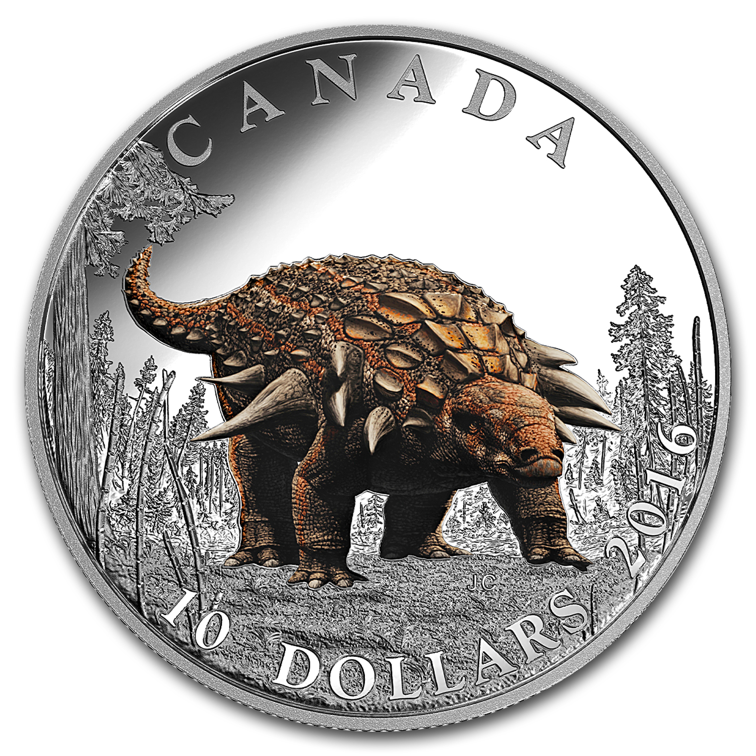 2016 Canada 1/2 oz Silver $10 Day of Dinosaurs: Armored Tank