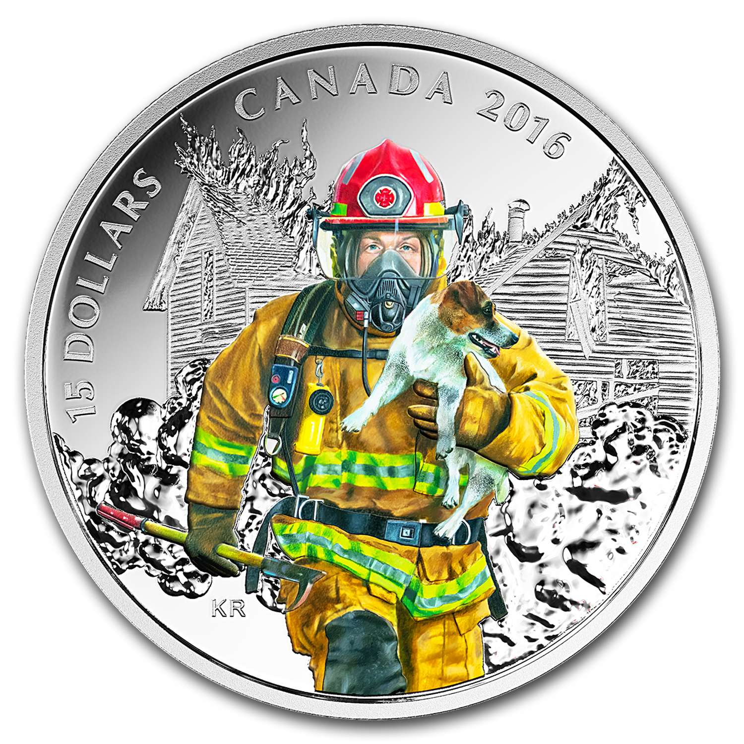 2016 Canada 2/3 oz Silver $15 National Heroes Firefighters