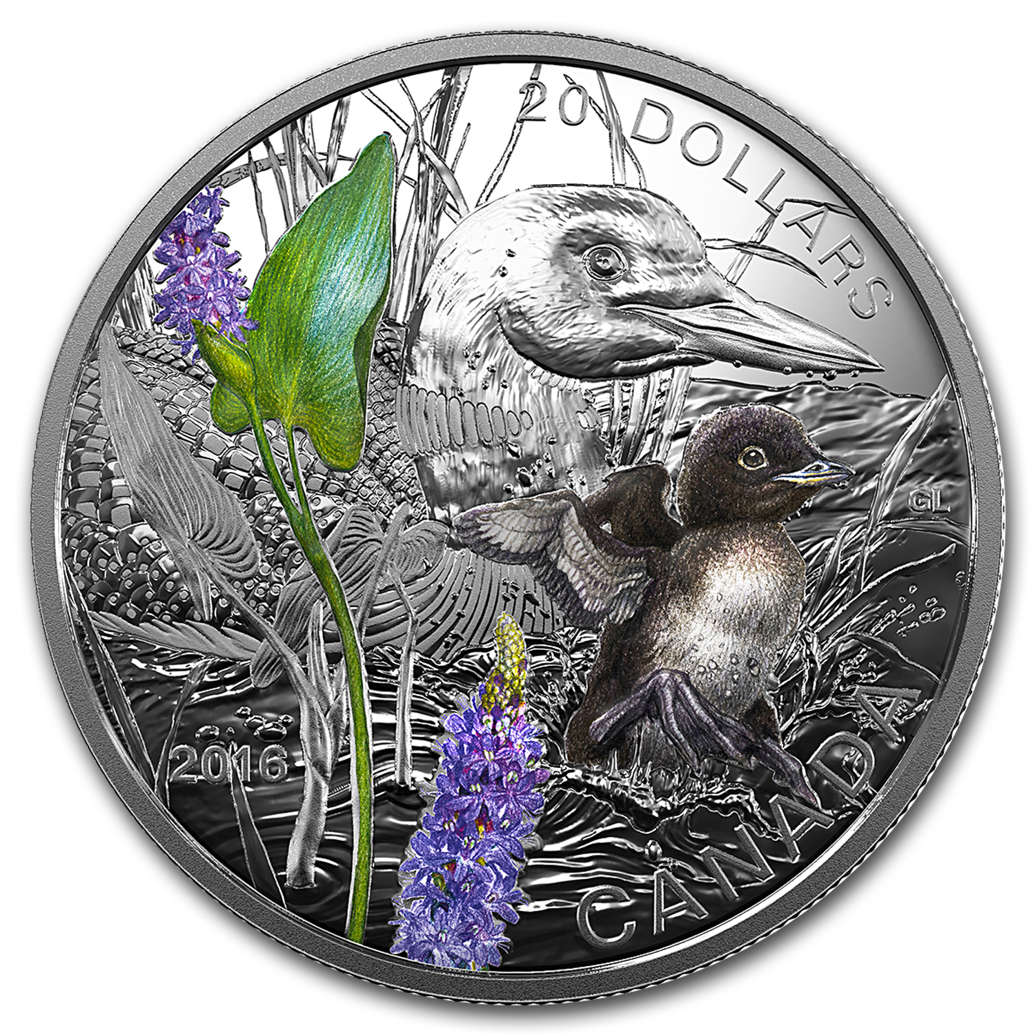 2016 Canada 1 oz Silver $20 Baby Animals (Common Loon)