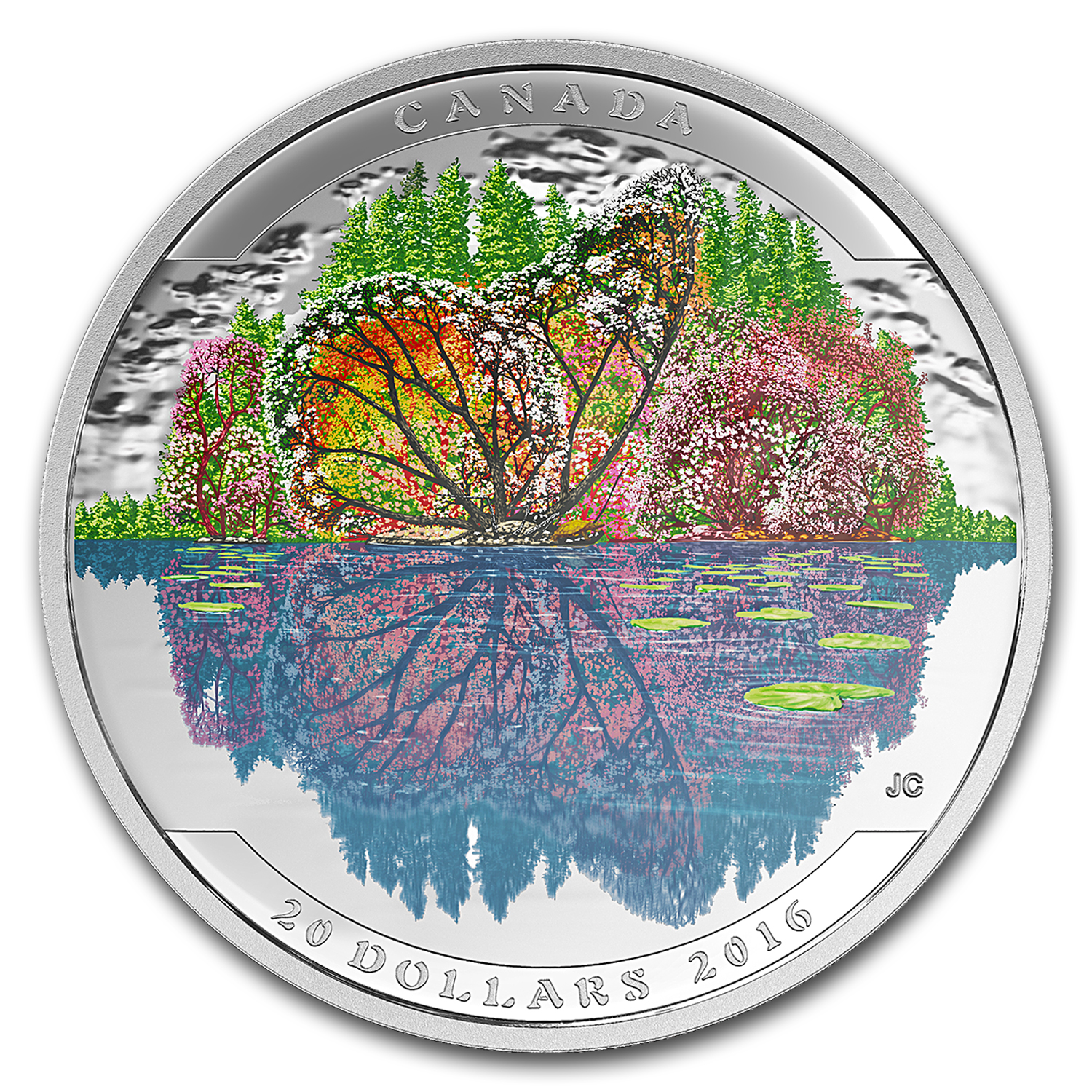 2016 Canada 1 oz Silver $20 Landscape Illusion: Butterfly